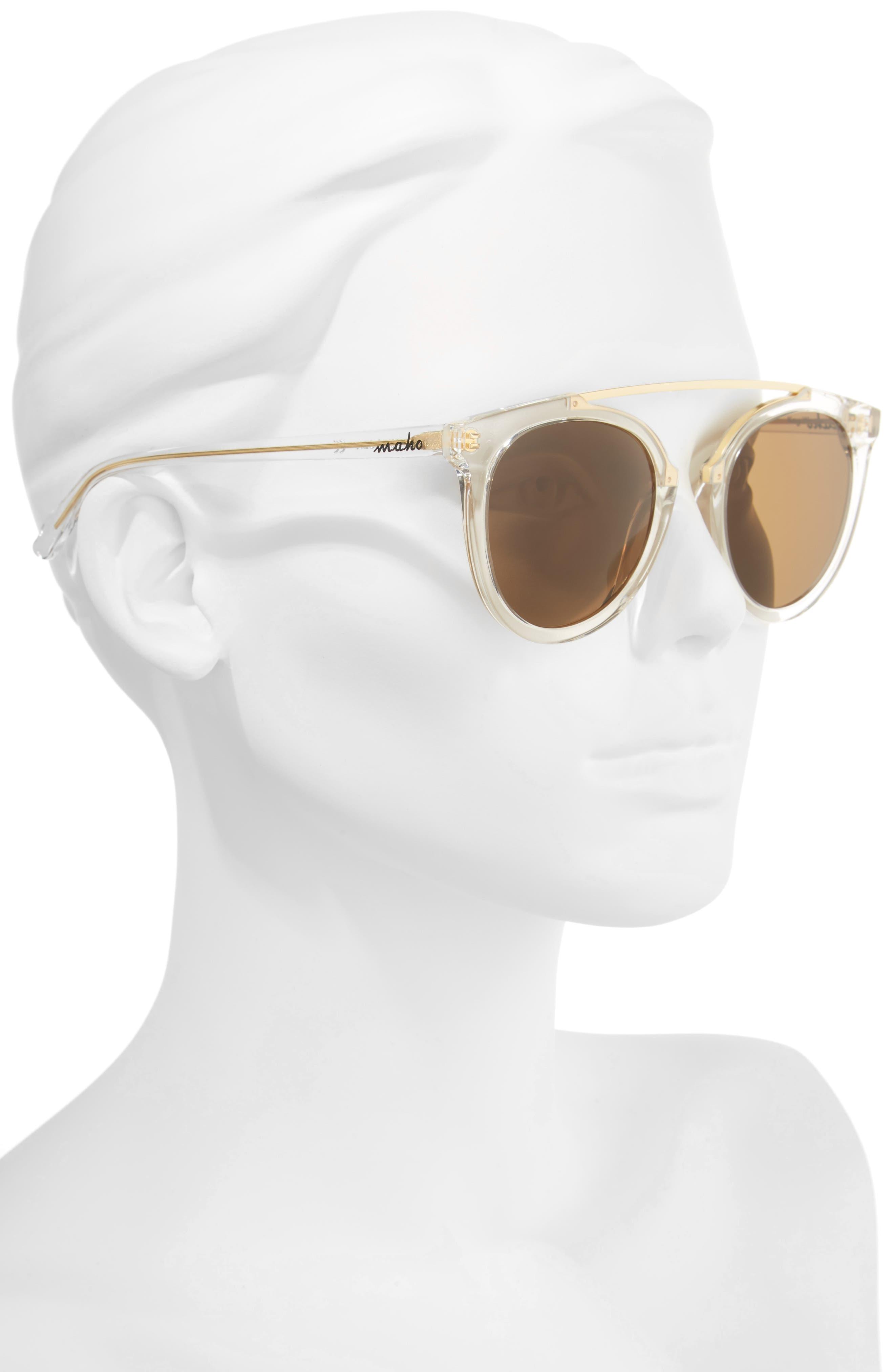 Alternate Image 2  - Maho Key West 50mm Polarized Aviator Sunglasses