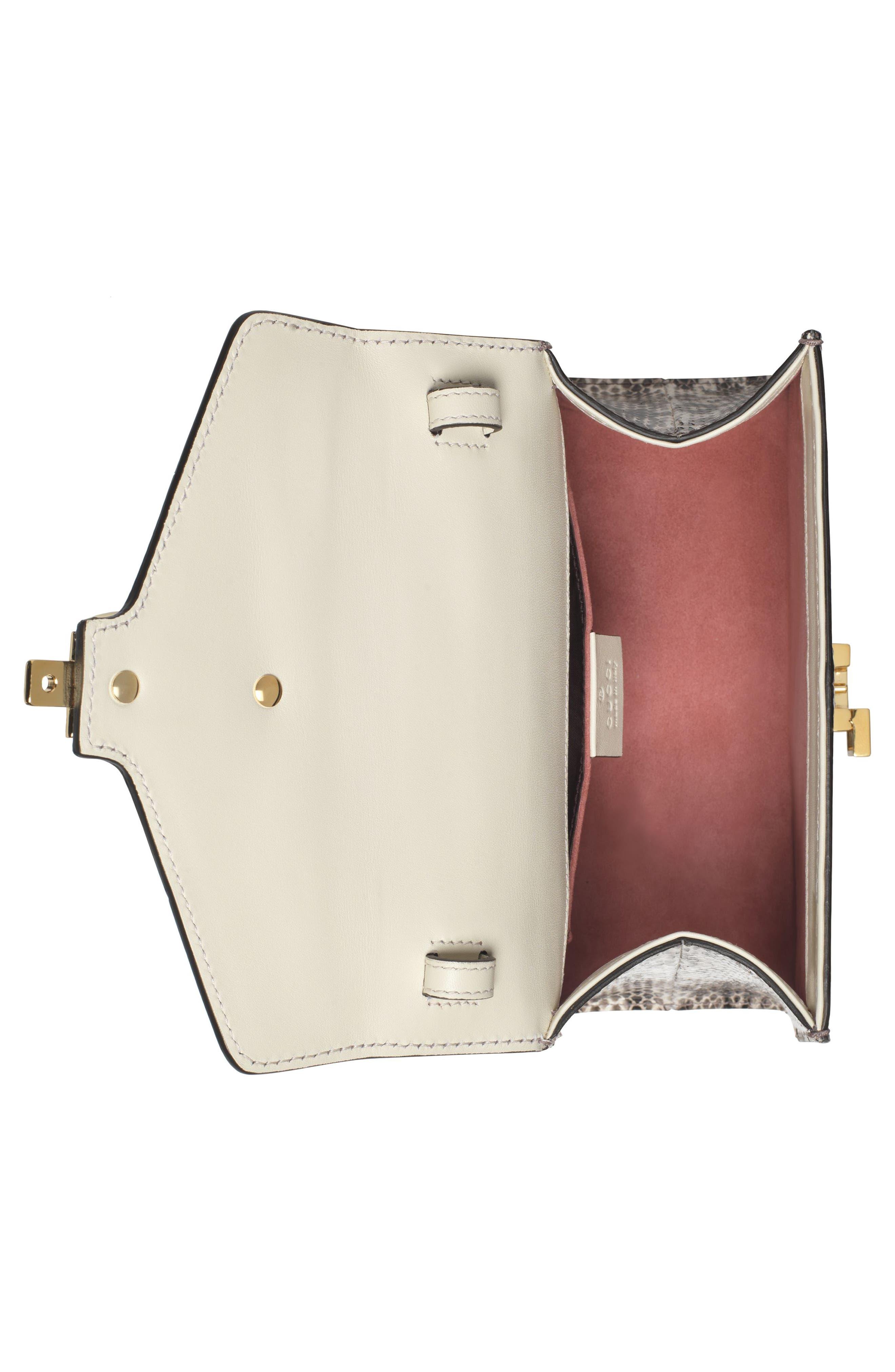Mini Sylvie Genuine Snakeskin Top Handle Bag,                             Alternate thumbnail 3, color,                             Roccia Multi