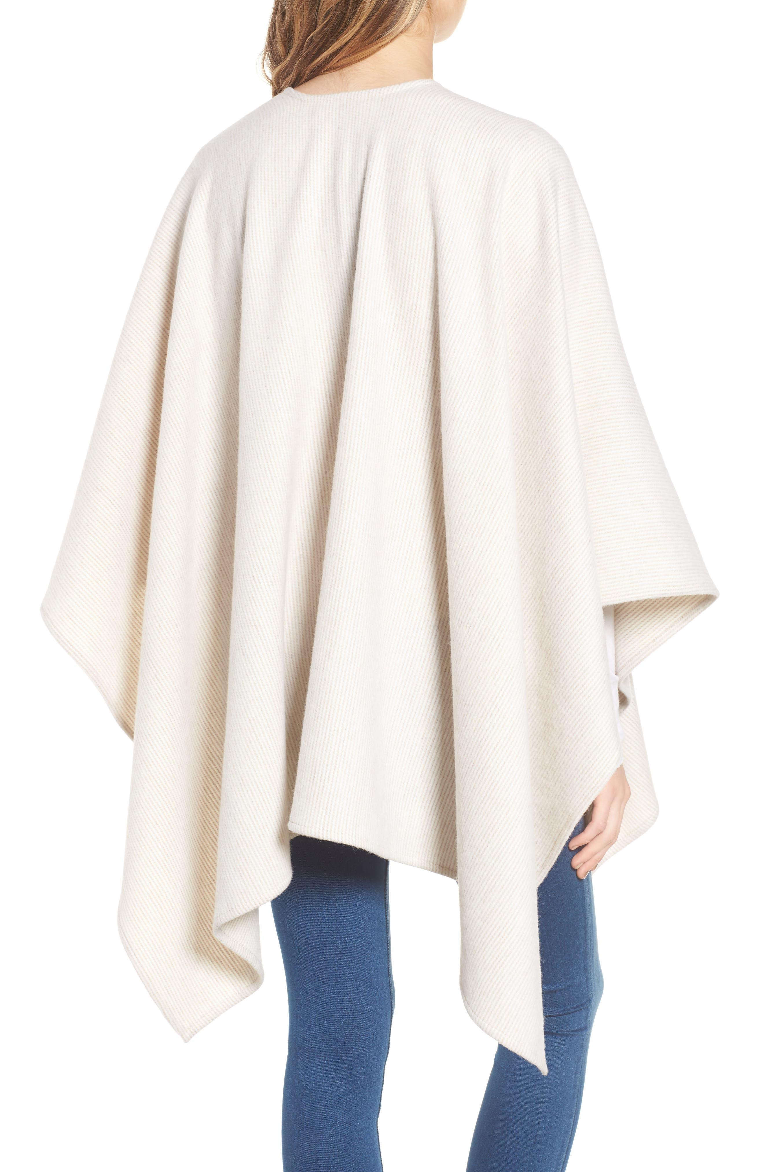 Skinny Stripe Wool Wrap,                             Alternate thumbnail 2, color,                             Camel Multi