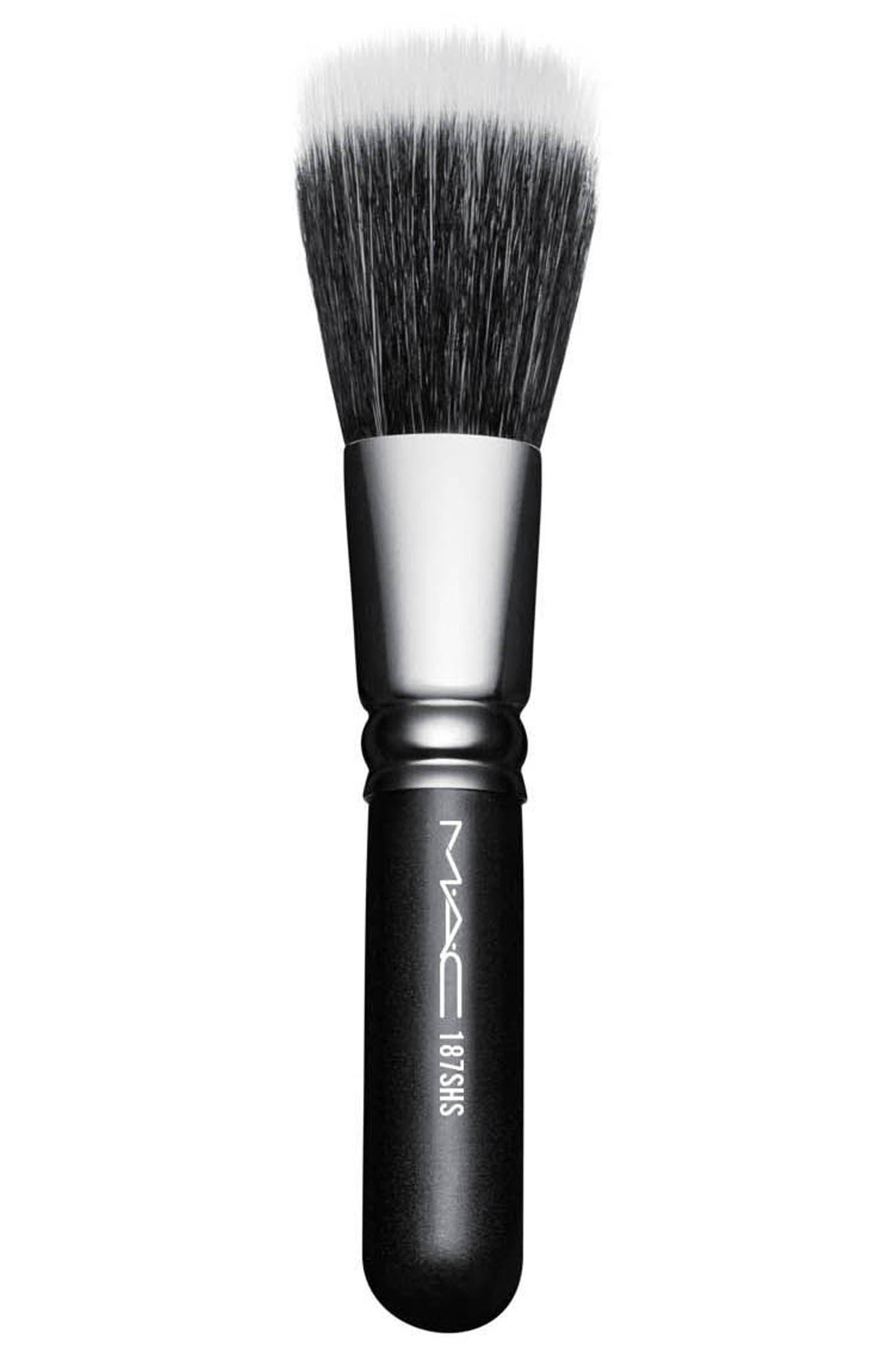MAC 187SH Duo Fibre Face Brush,                             Main thumbnail 1, color,                             No Color