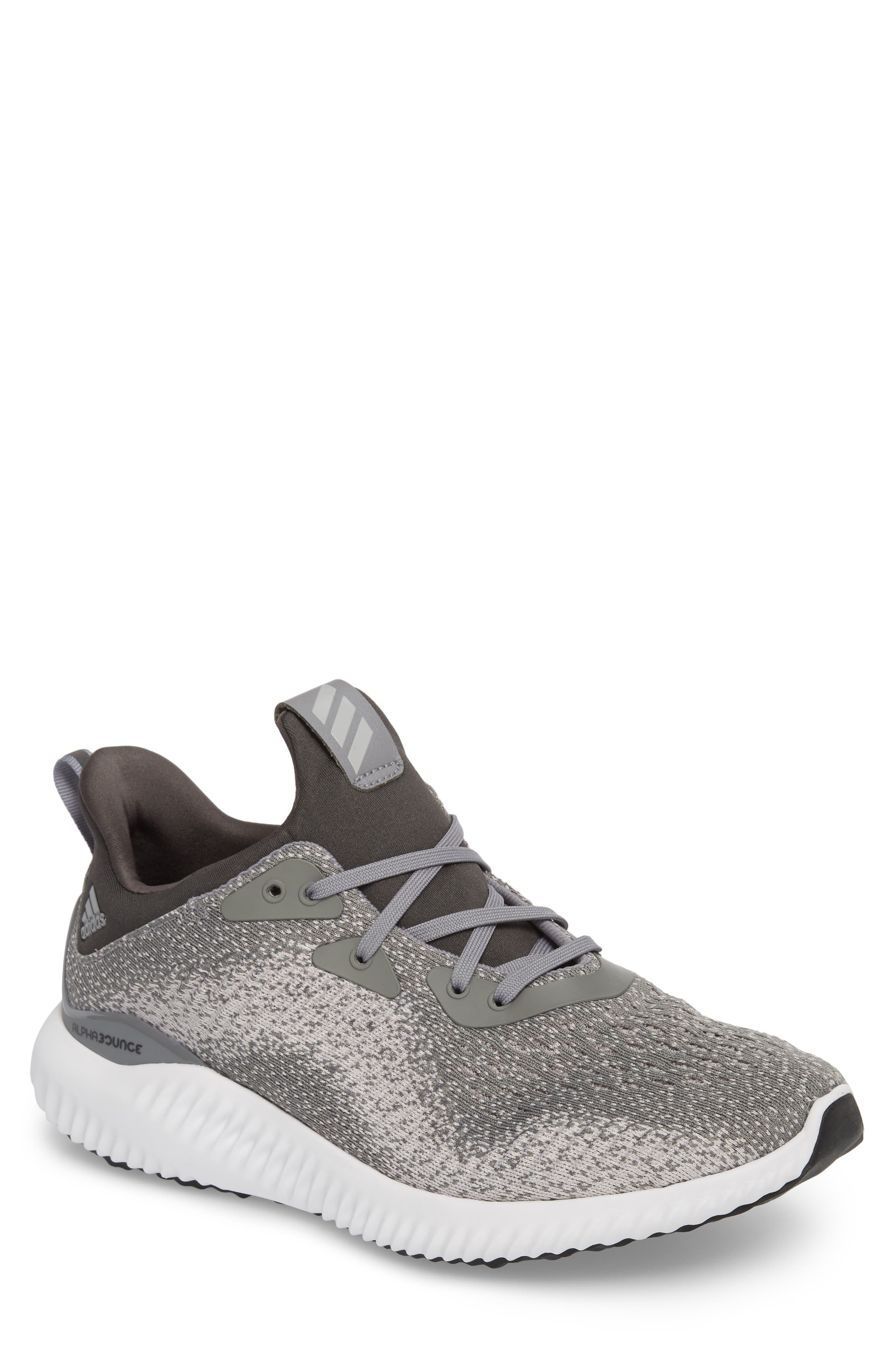 Main Image - adidas AlphaBounce EM Sock Fit Running Shoe (Men)