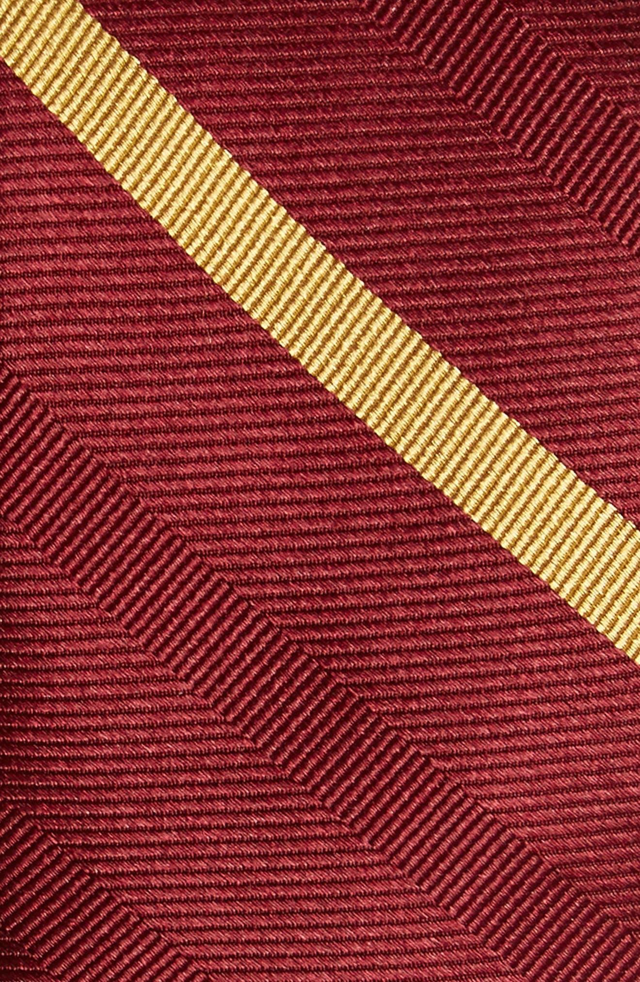 Alternate Image 2  - The Tie Bar Goal Line Stripe Silk Skinny Tie