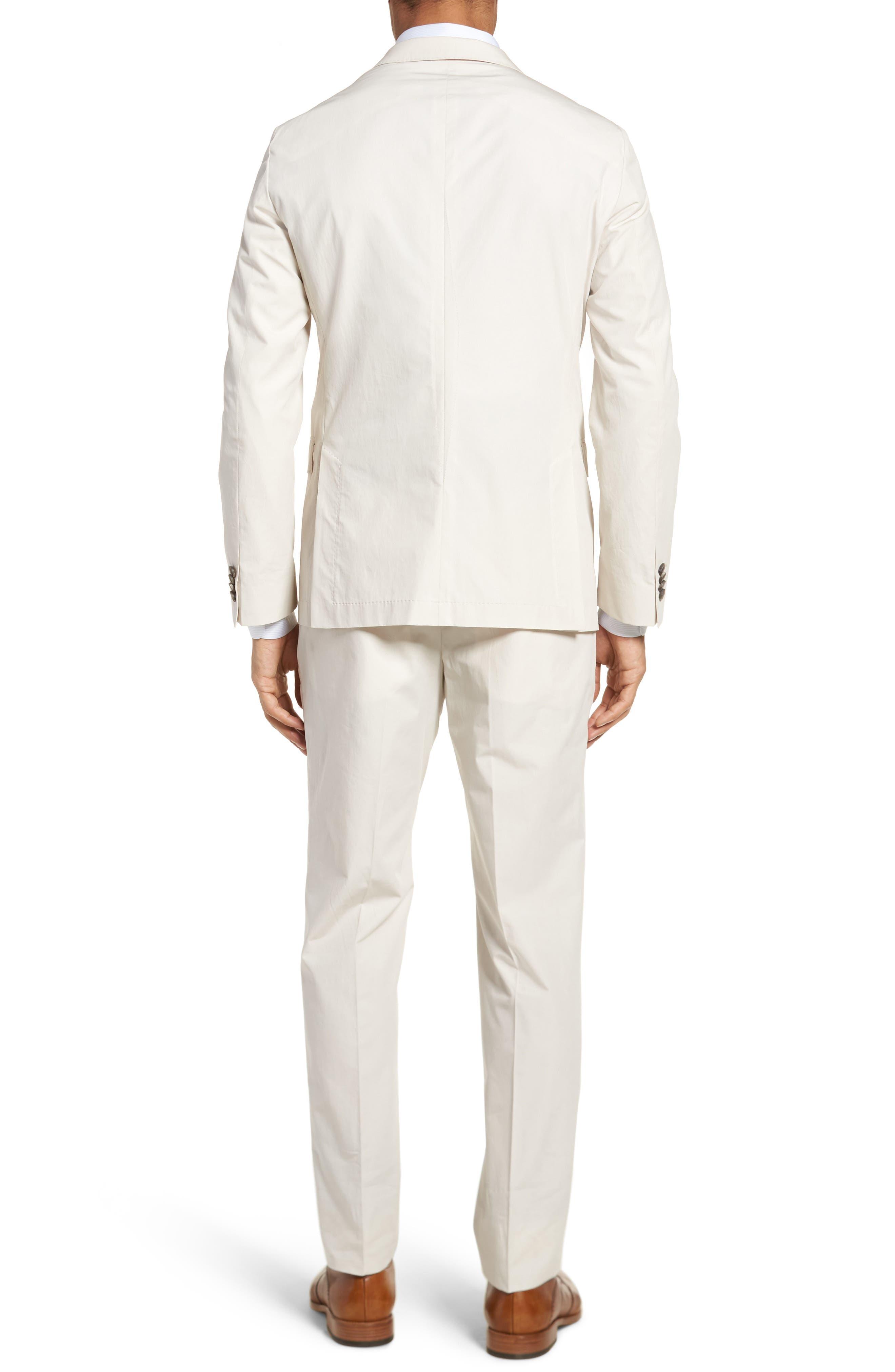 Nylen/Perry Trim Fit Solid Cotton Suit,                             Alternate thumbnail 2, color,                             Ivory