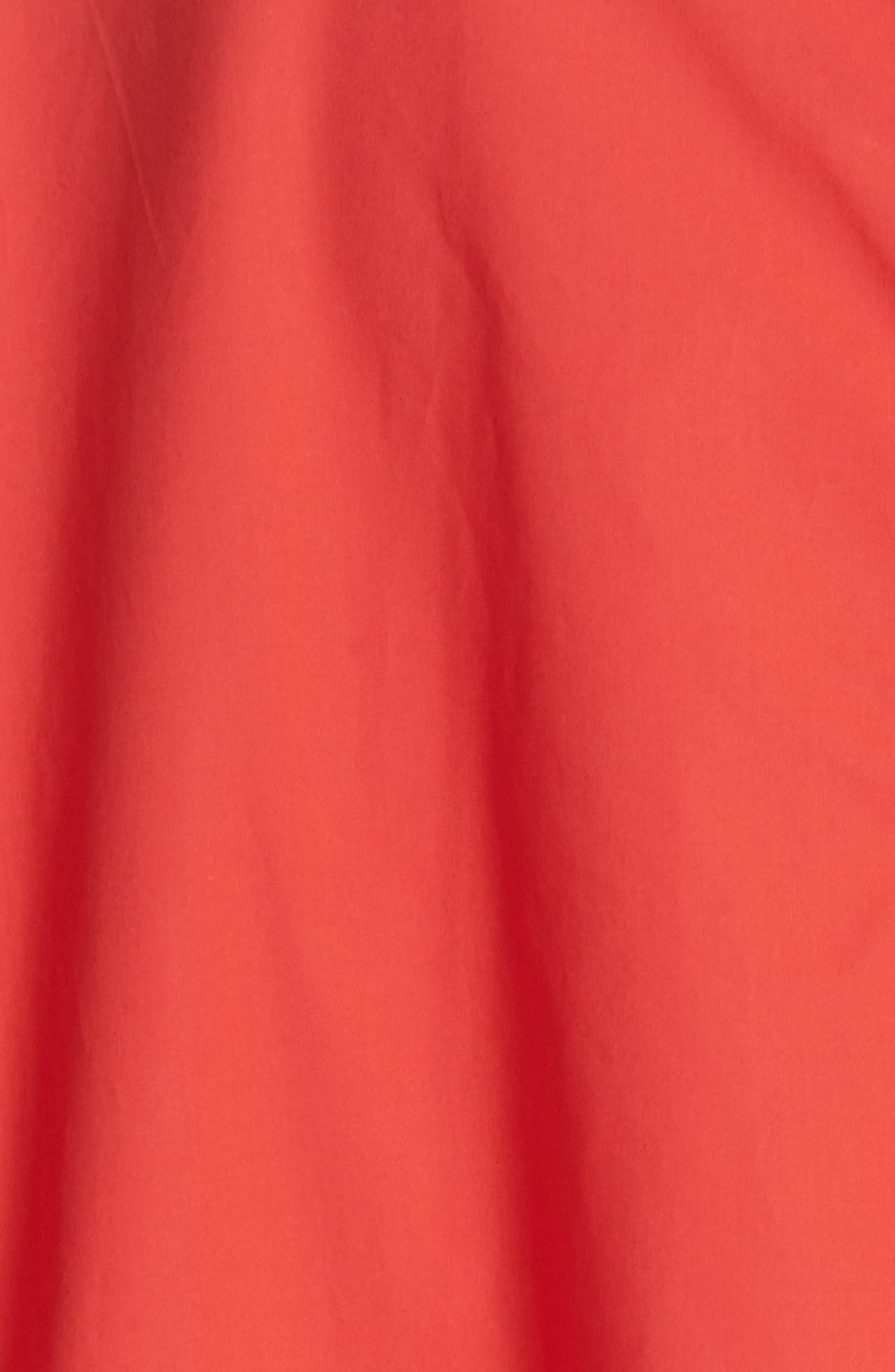 Diagonal Waist Dress,                             Alternate thumbnail 6, color,                             Poppy