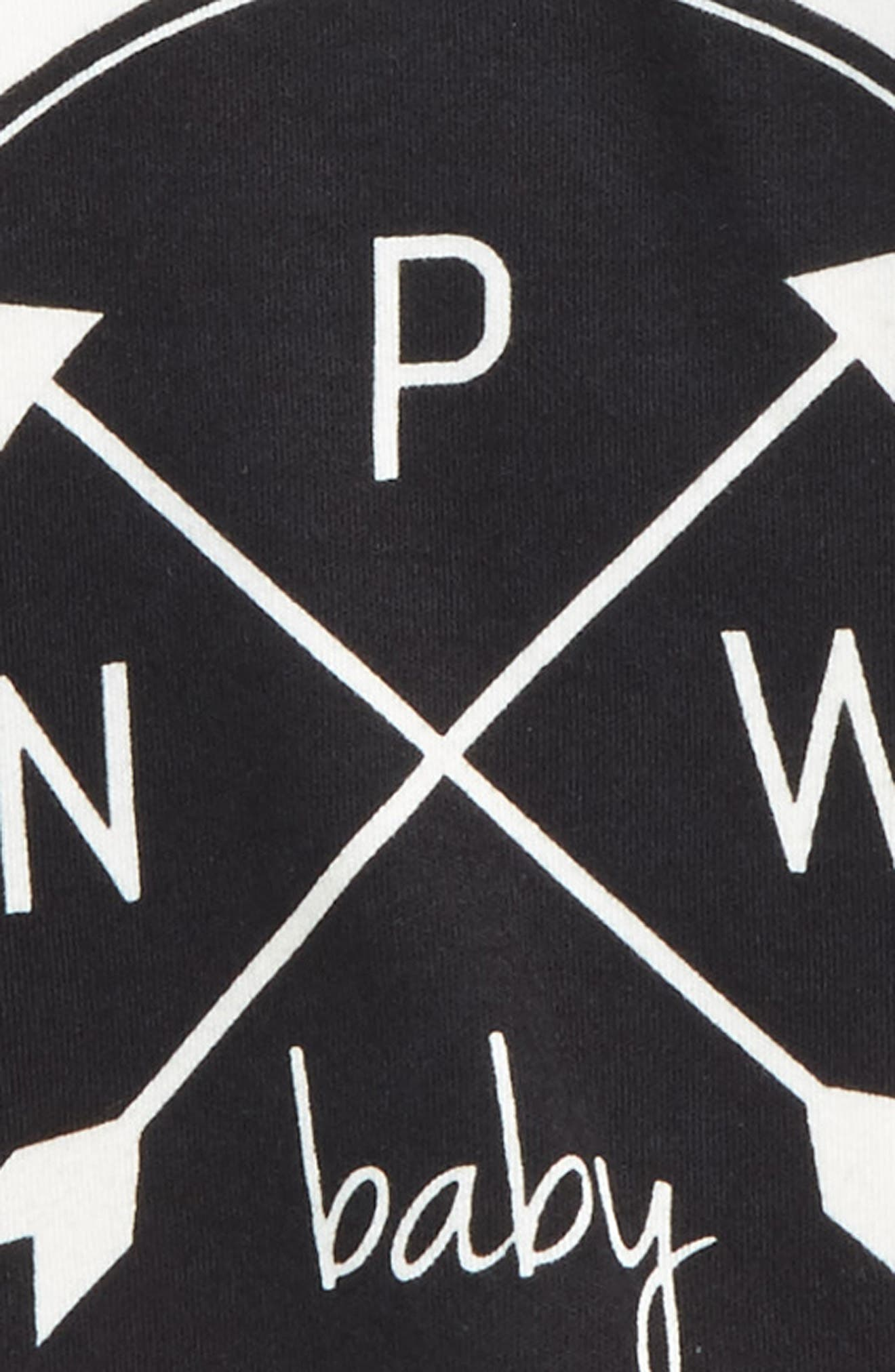 PNW Logo Organic Cotton T-Shirt,                             Alternate thumbnail 2, color,                             Black/ Offwhite