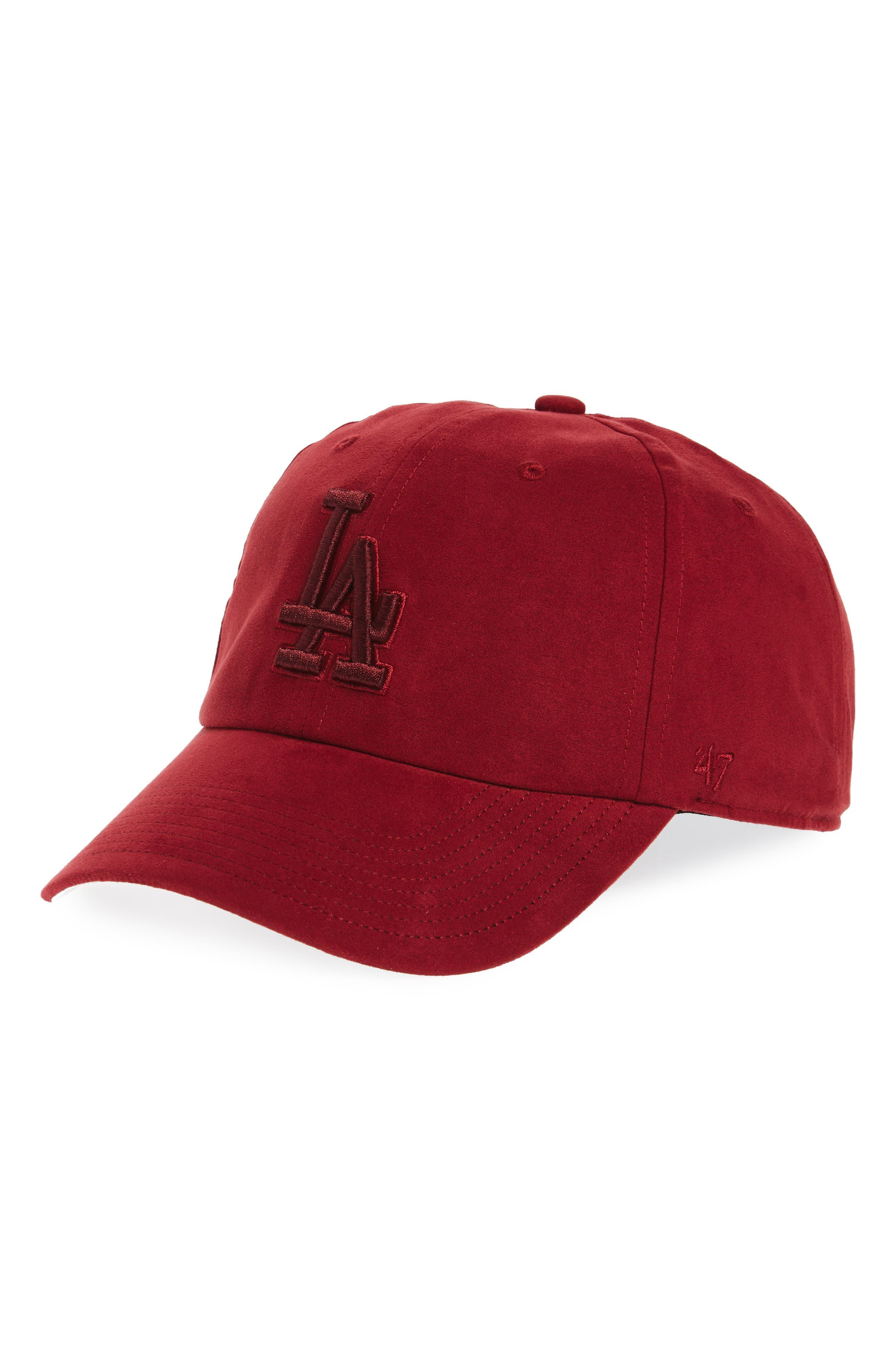 Brand Los Angeles Dodgers Baseball Cap,                         Main,                         color, Maroon