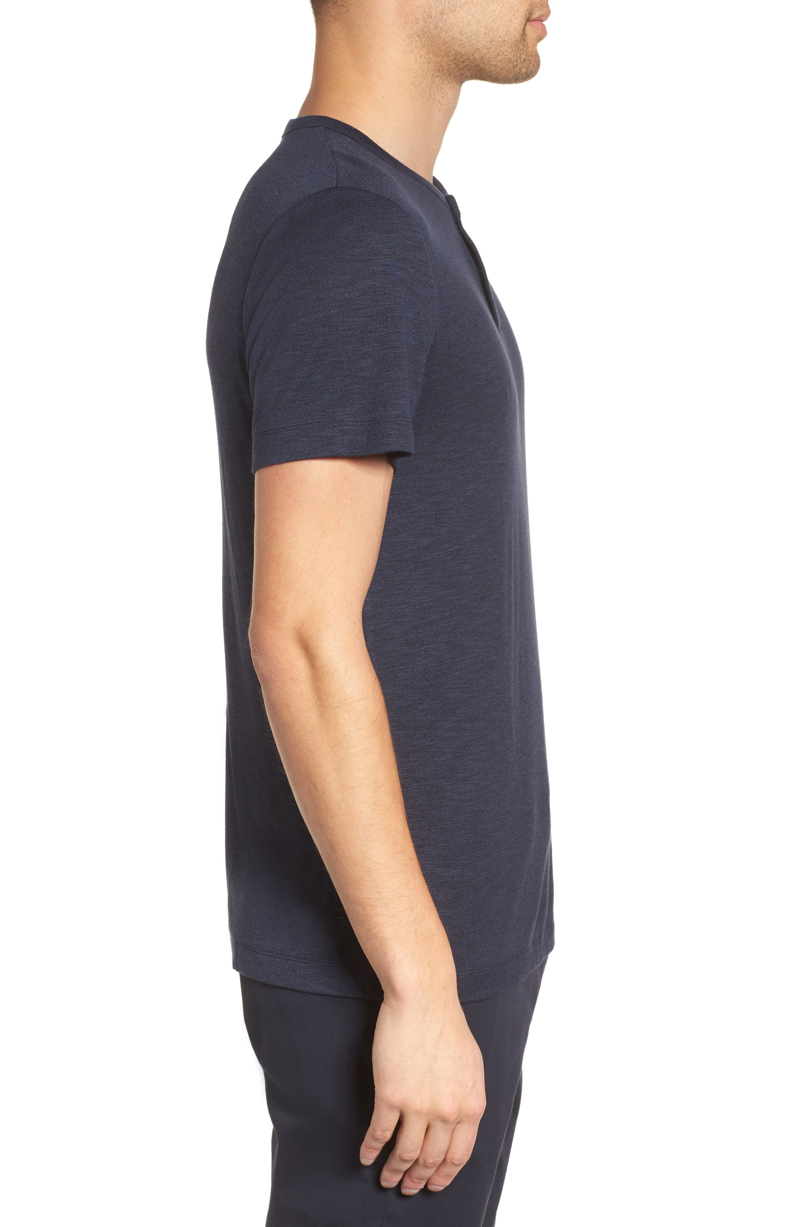 Gaskell Anemone Slim Fit Henley,                             Alternate thumbnail 4, color,                             Eclipse Multi