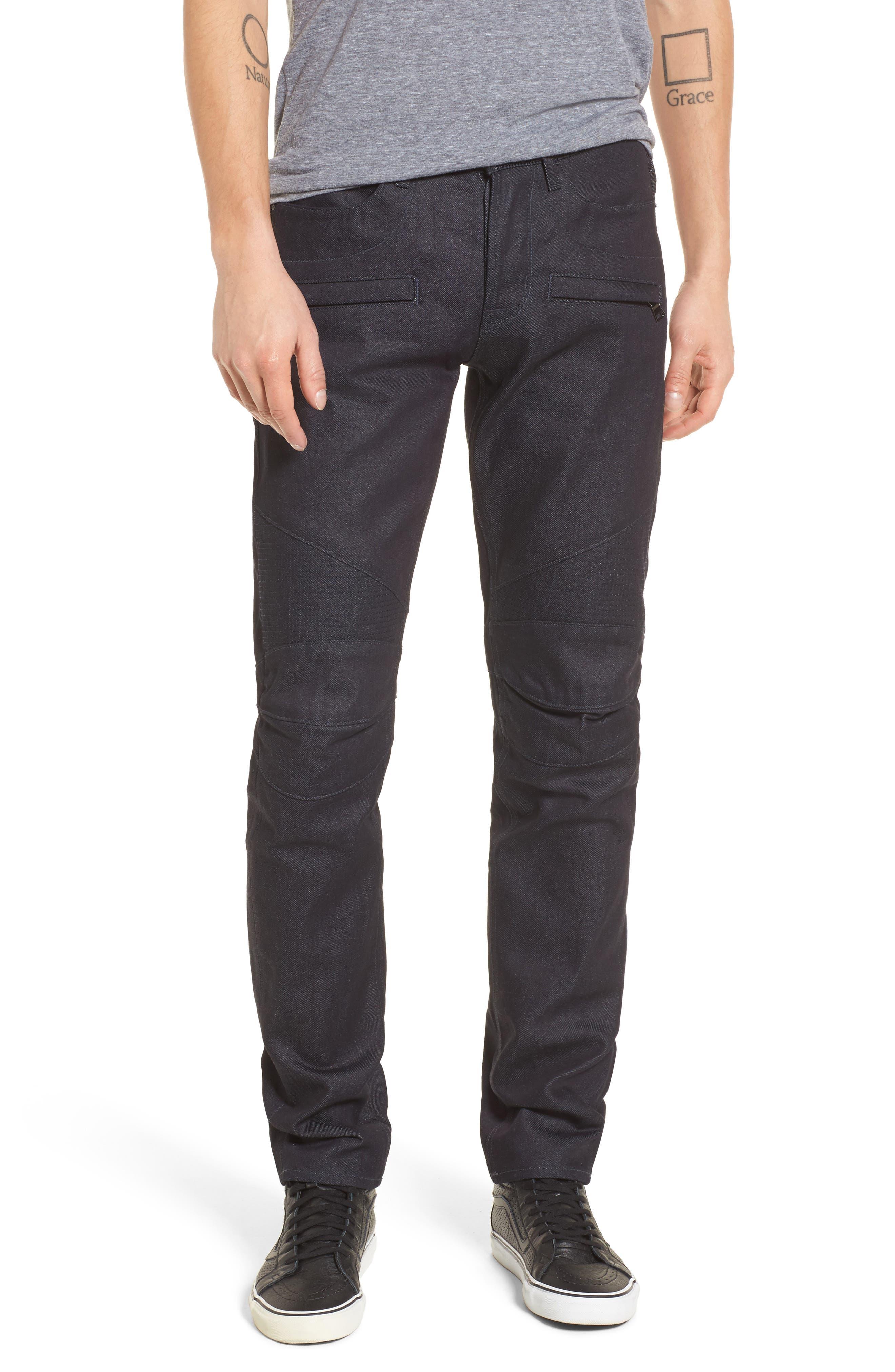 Blinder Biker Skinny Fit Jeans,                         Main,                         color, Raw