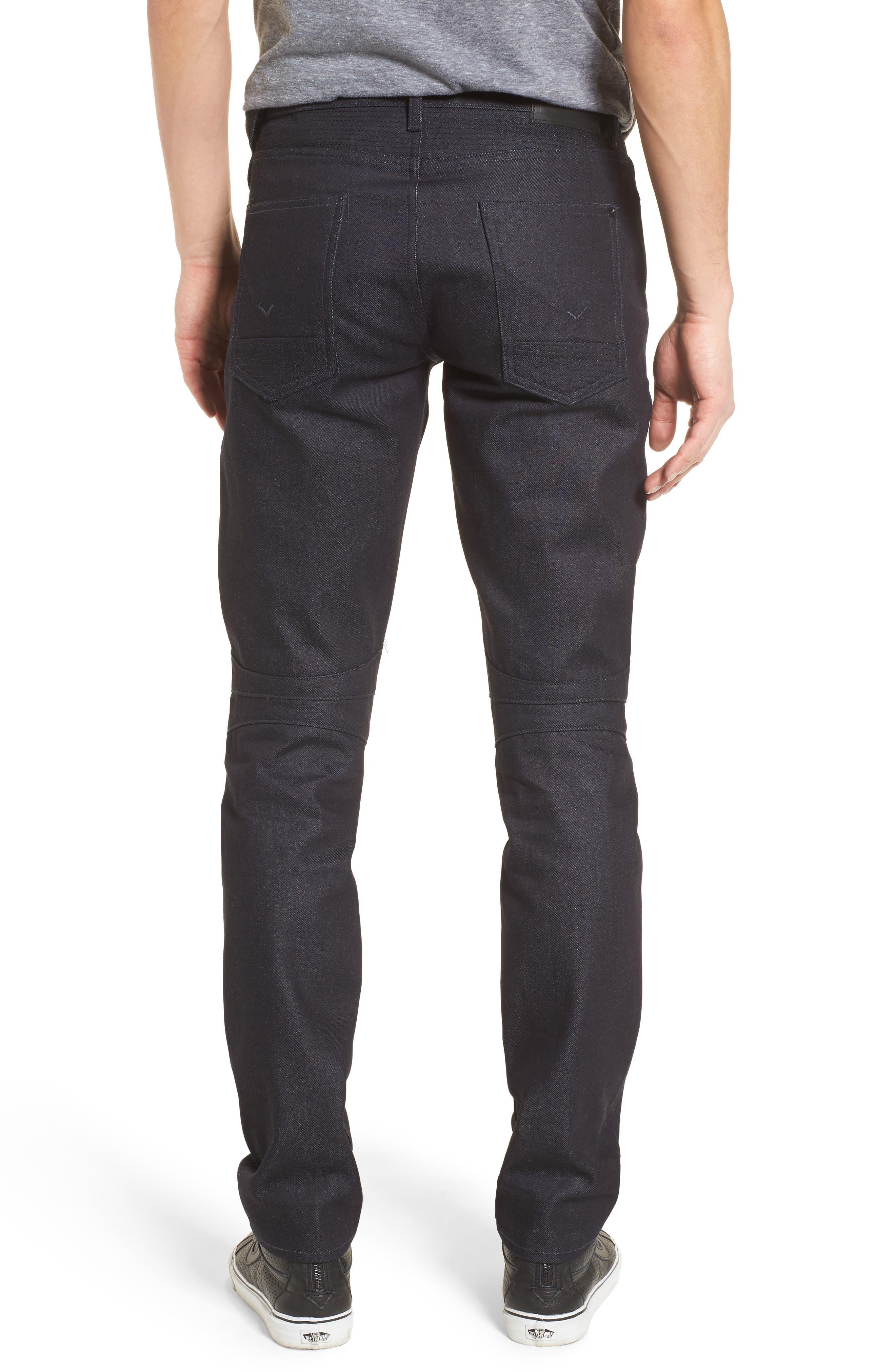 Blinder Biker Skinny Fit Jeans,                             Alternate thumbnail 2, color,                             Raw