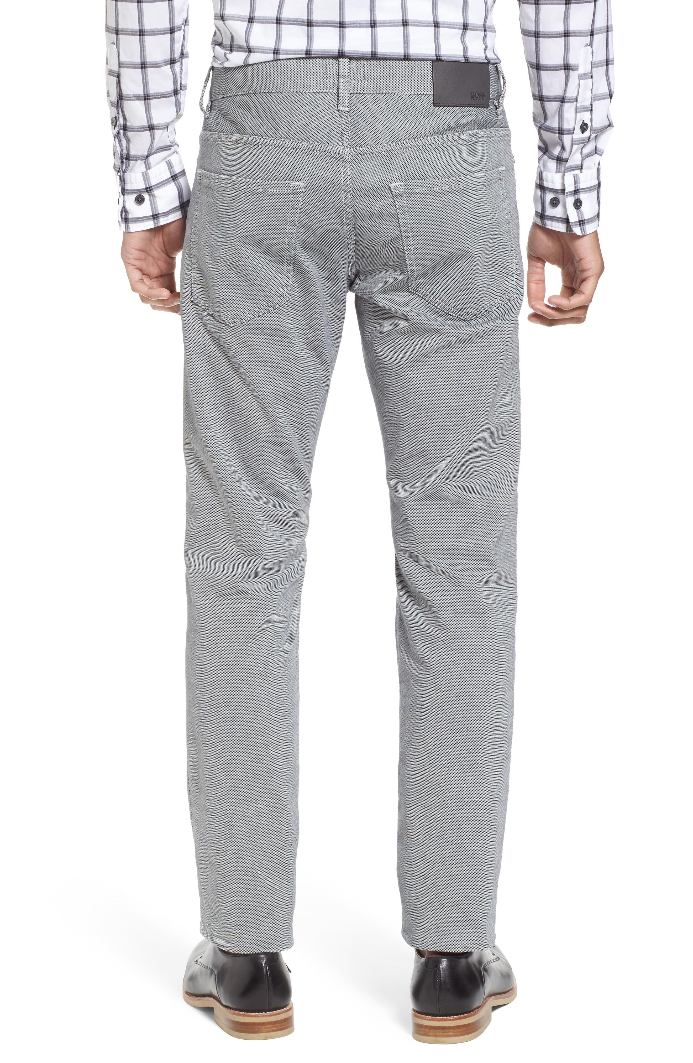Delaware Slim Fit Structure Jeans,                             Alternate thumbnail 3, color,                             Grey