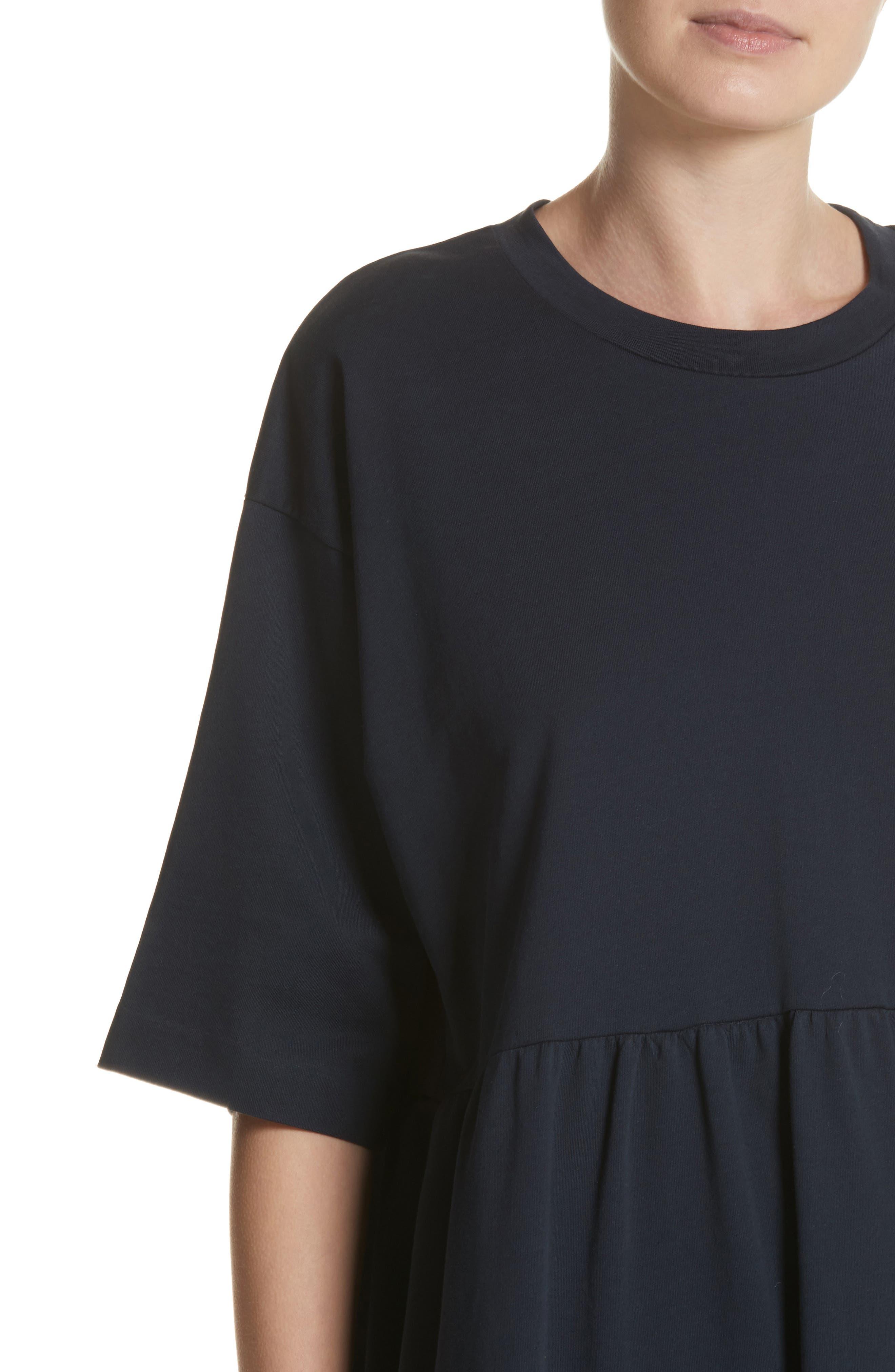 T-Shirt Dress,                             Alternate thumbnail 4, color,                             Navy