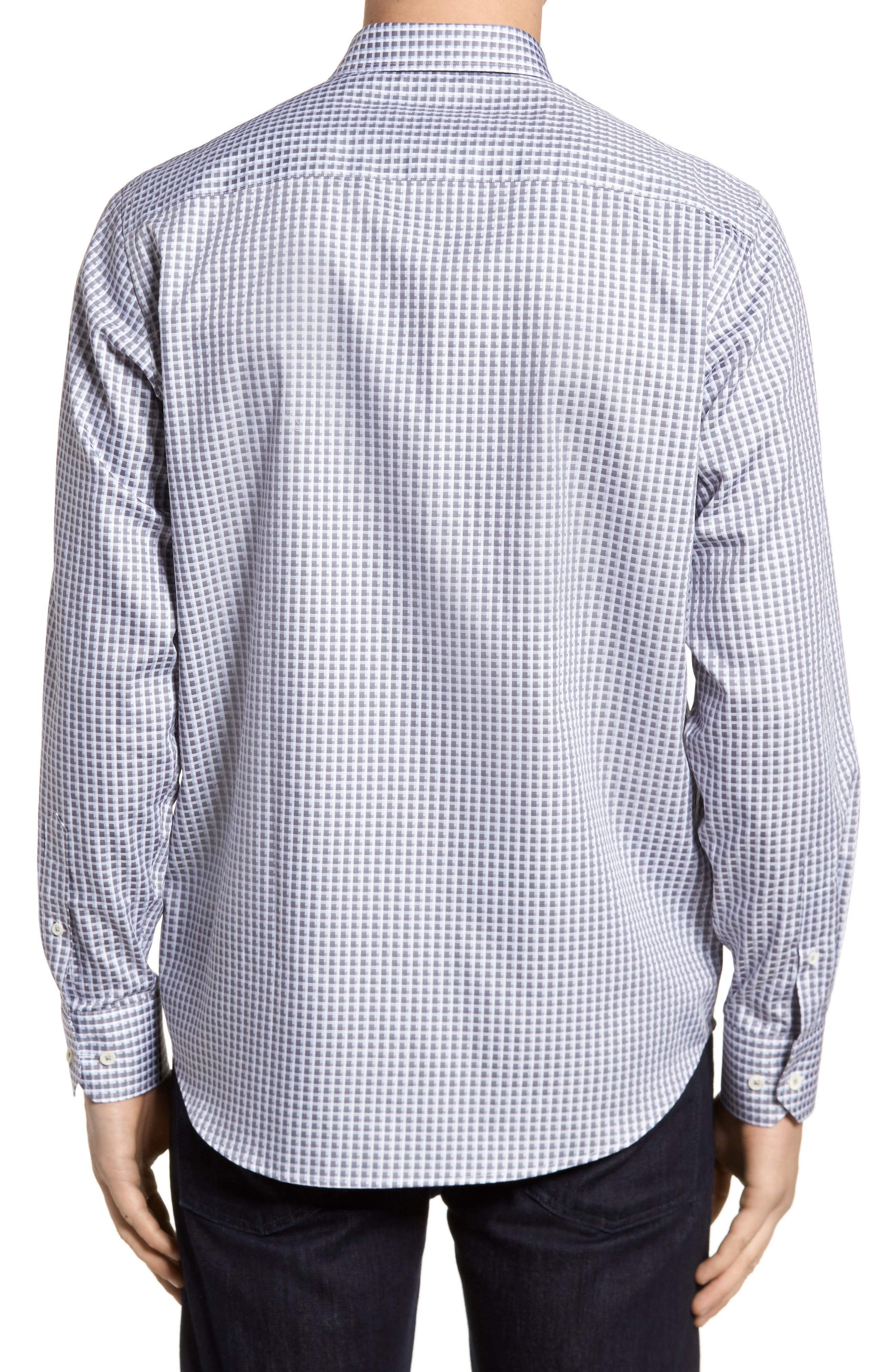 Regular Fit Check Sport Shirt,                             Alternate thumbnail 2, color,                             Platinum