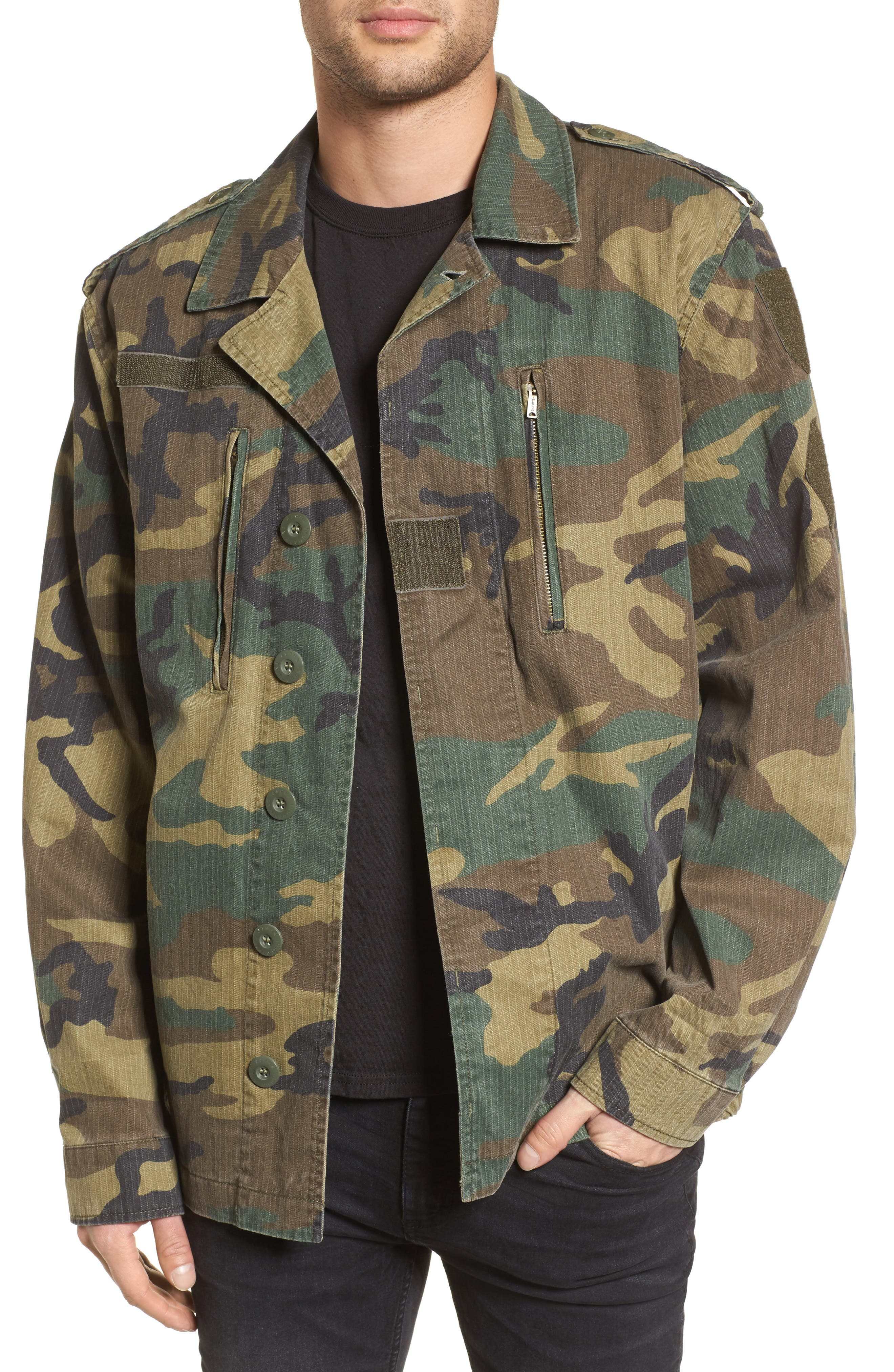 F-2 French Field Jacket,                             Main thumbnail 1, color,                             Woodland Camo