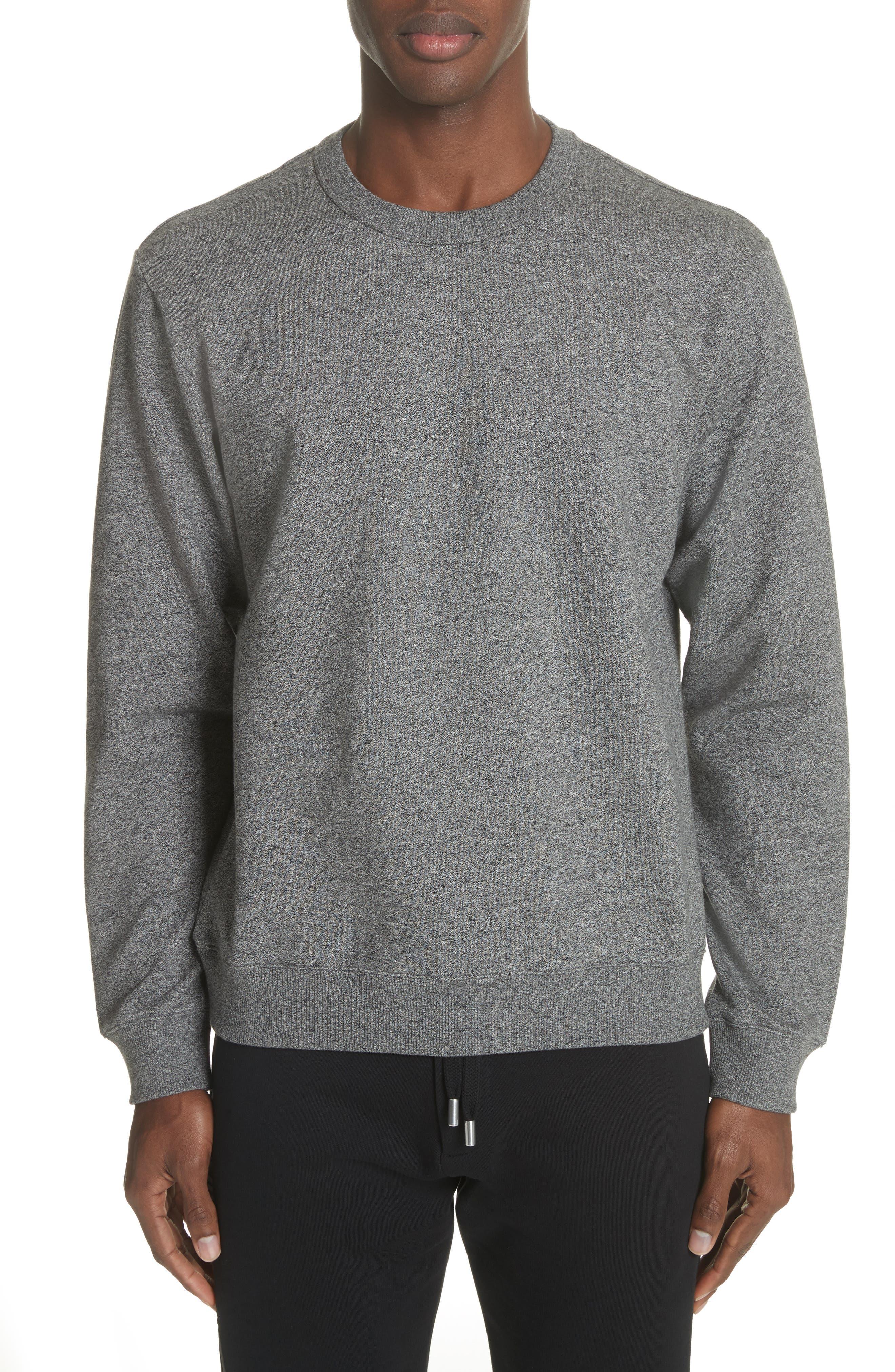 Logo Crewneck Sweatshirt,                         Main,                         color, Anthracite