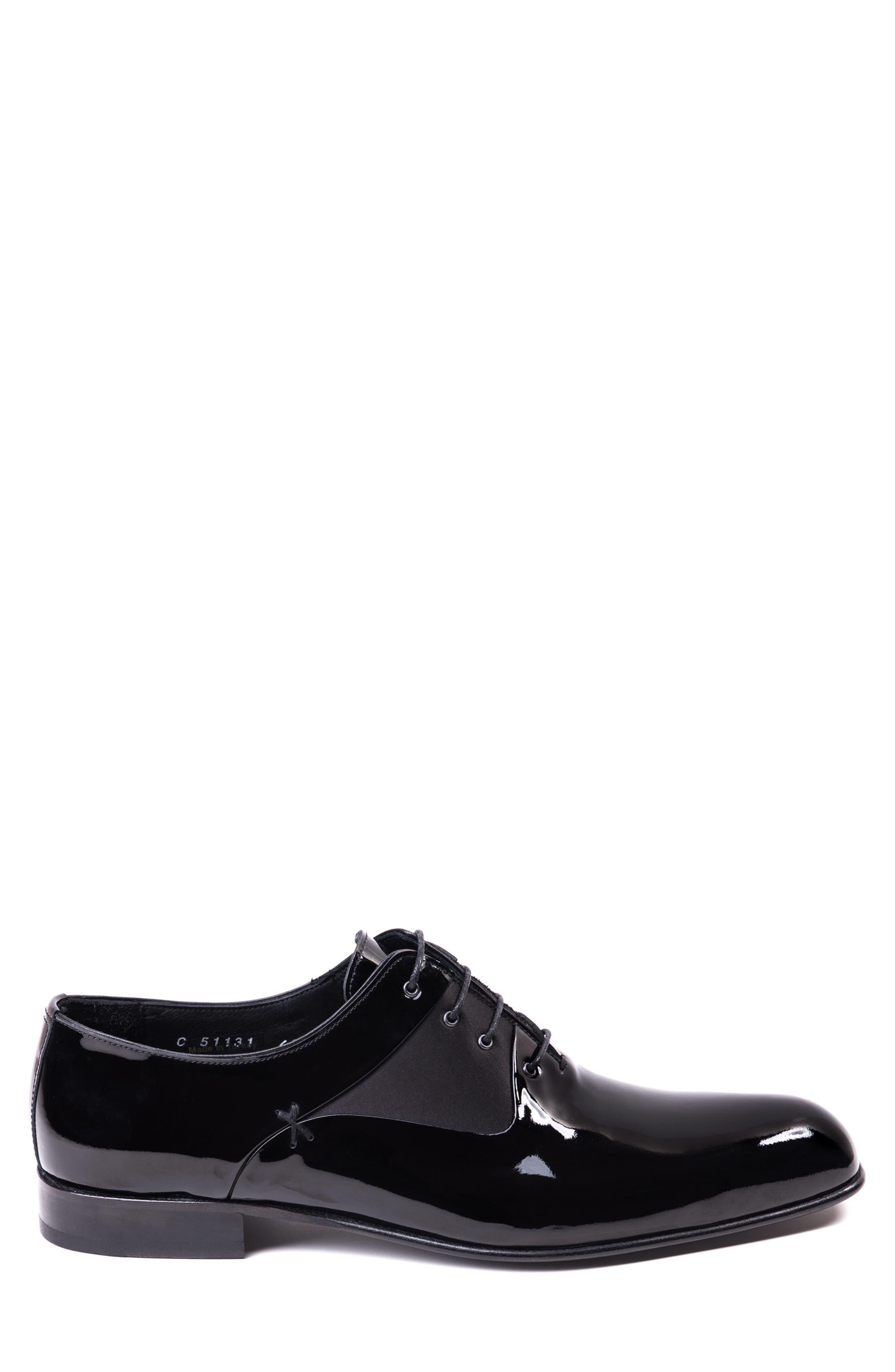 Ricci Plain Toe Oxford,                             Alternate thumbnail 3, color,                             Black