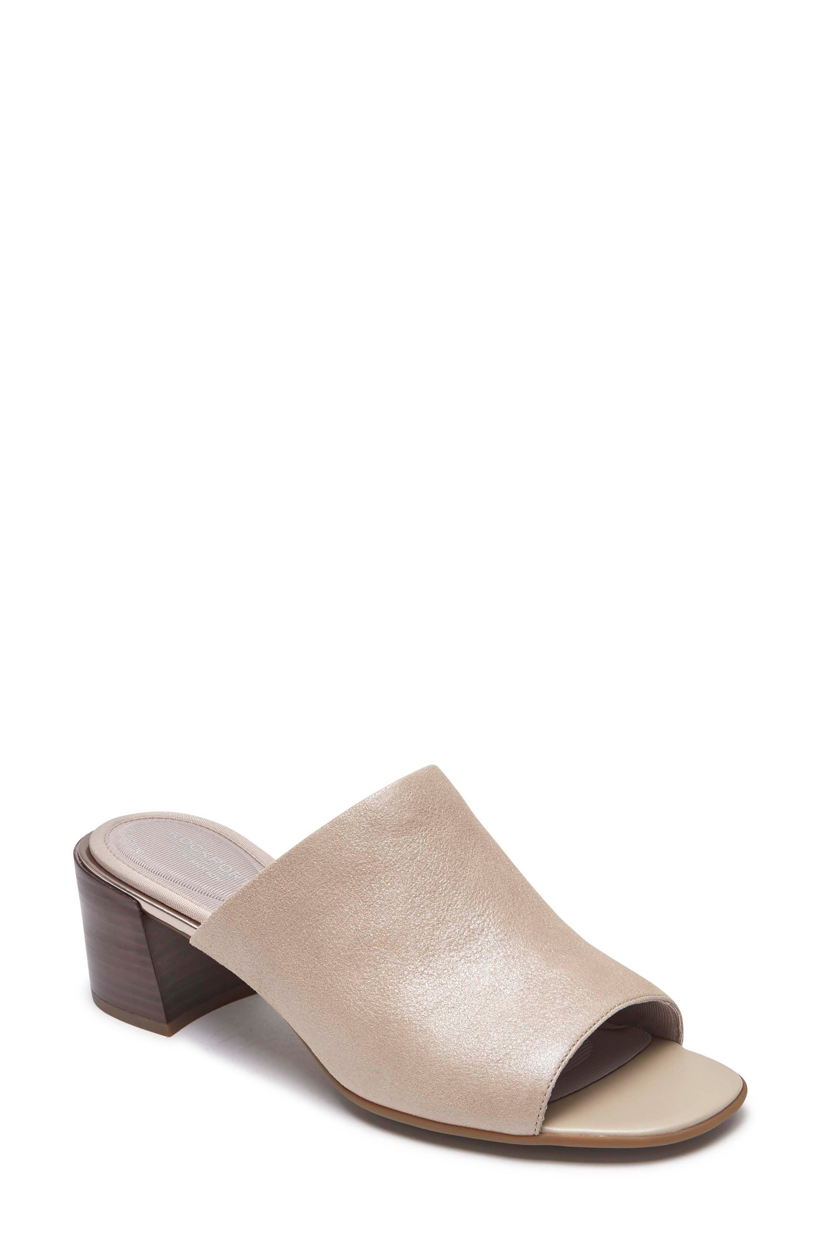 Total Motion Alaina Luxe Sandal,                         Main,                         color, Dove Leather