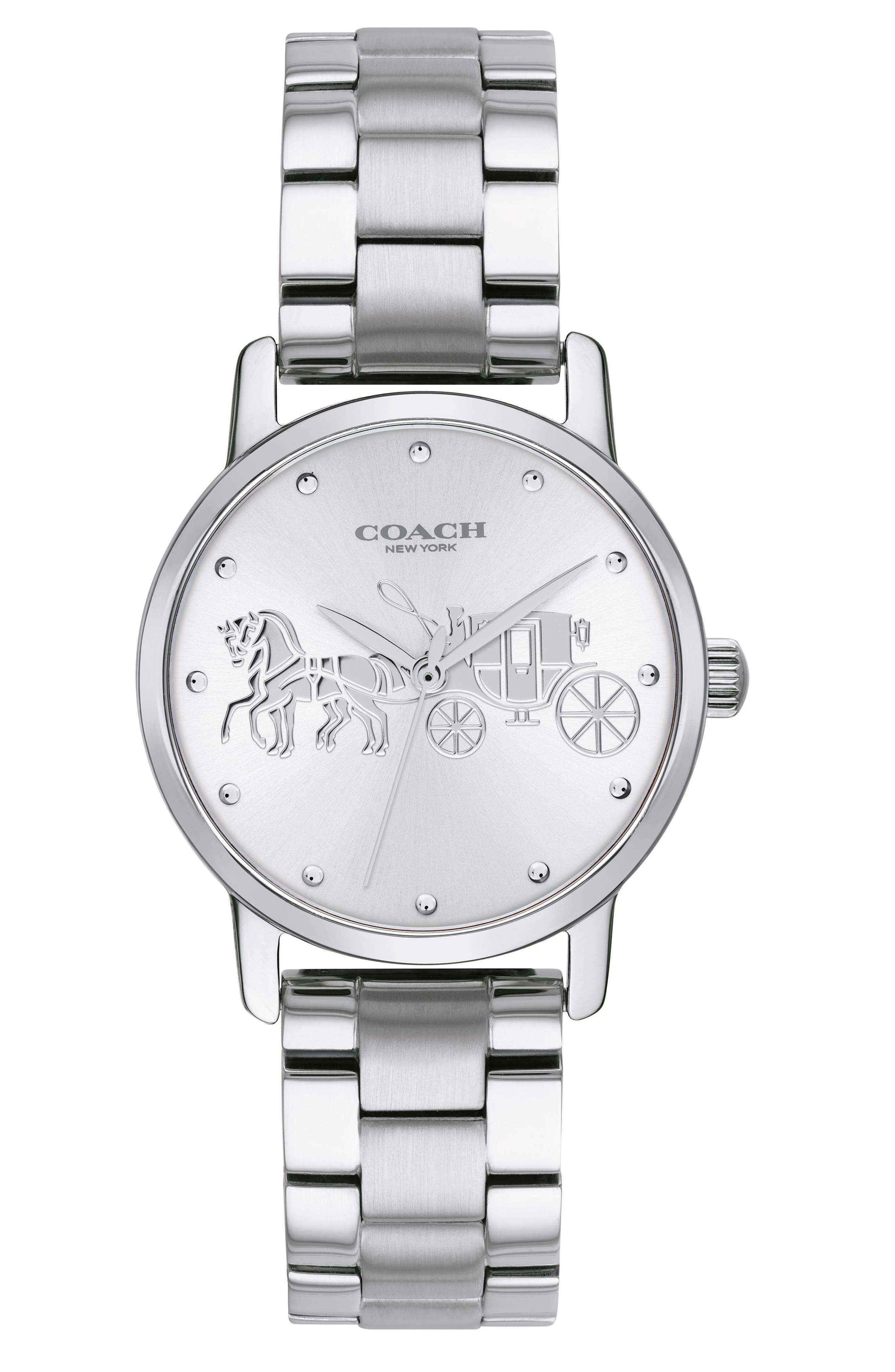 Grand Bracelet Watch, 36mm,                             Main thumbnail 1, color,                             Silver