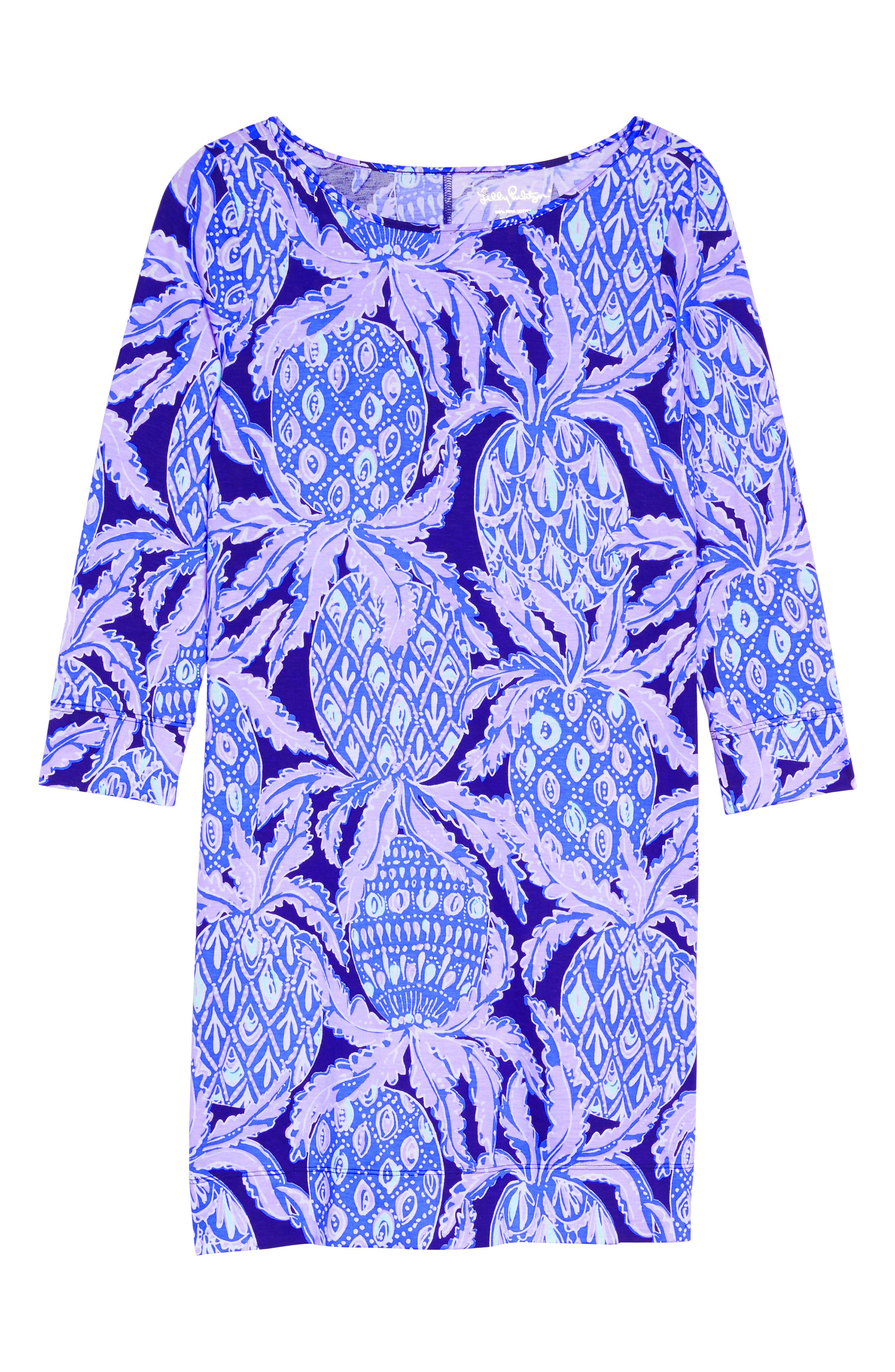 Marlowe Shift Dress,                             Alternate thumbnail 5, color,                             Lilac Verbena Coco Safari