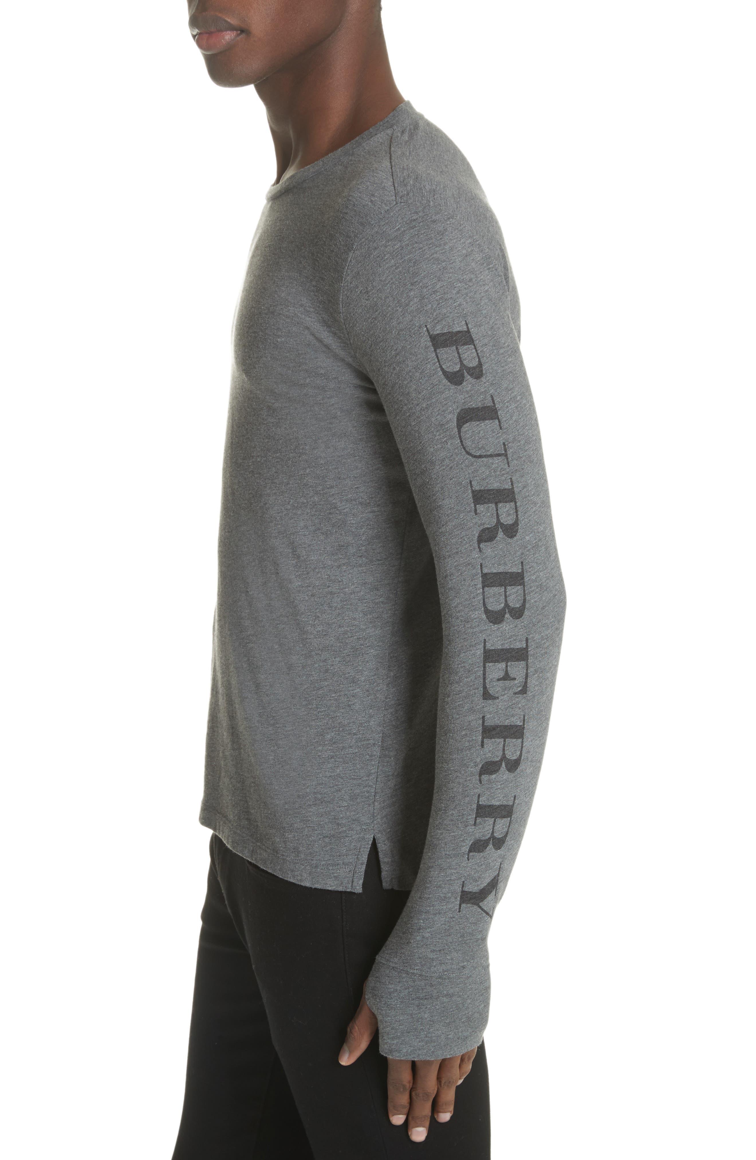 Marchston Regular Fit Crewneck Shirt,                             Alternate thumbnail 4, color,                             Mid Grey Melange