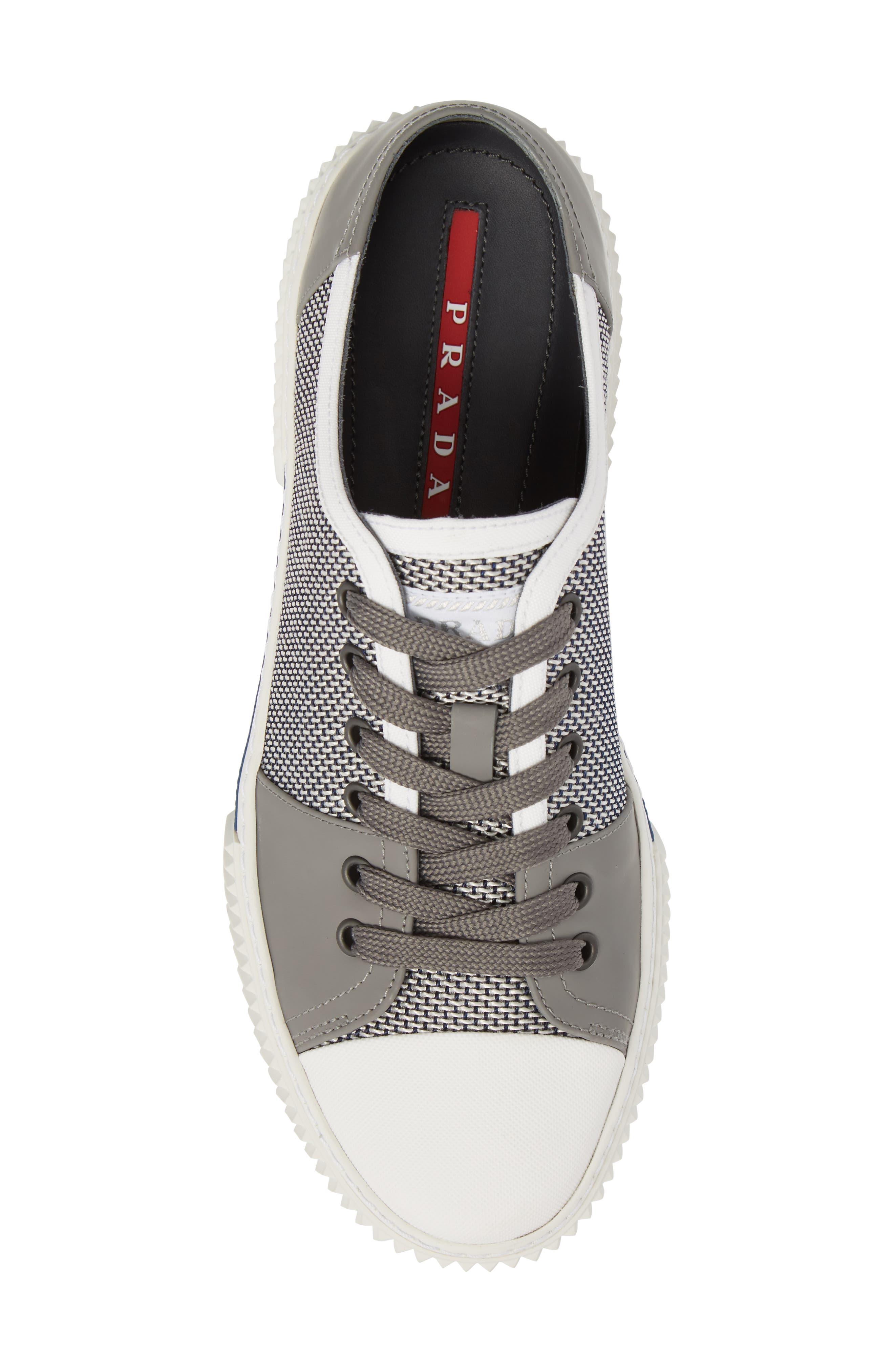 Linea Rossa Low-Top Sneaker,                             Alternate thumbnail 5, color,                             Baltic White