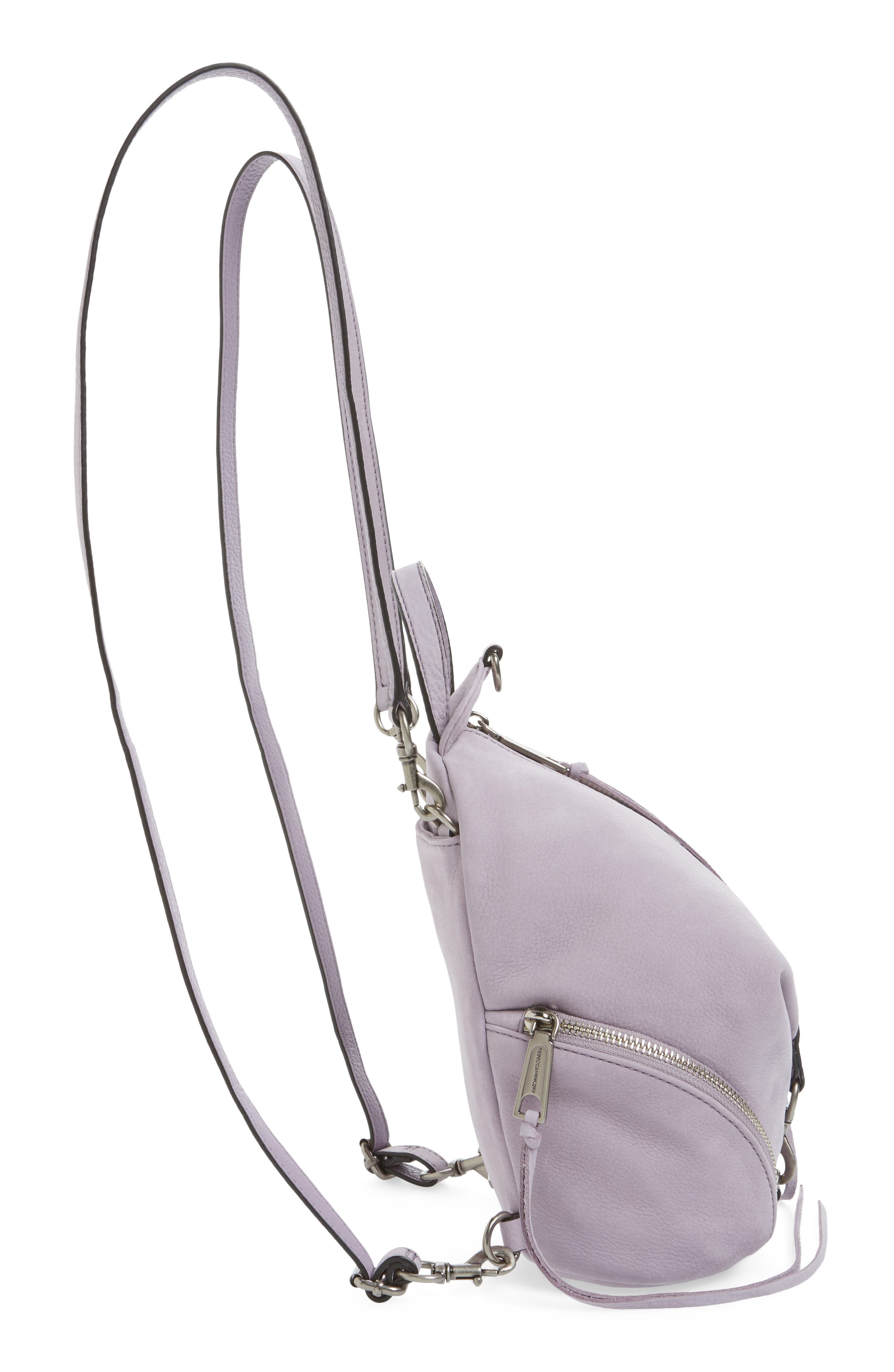 Alternate Image 4  - Rebecca Minkoff Mini Julian Nubuck Leather Convertible Backpack