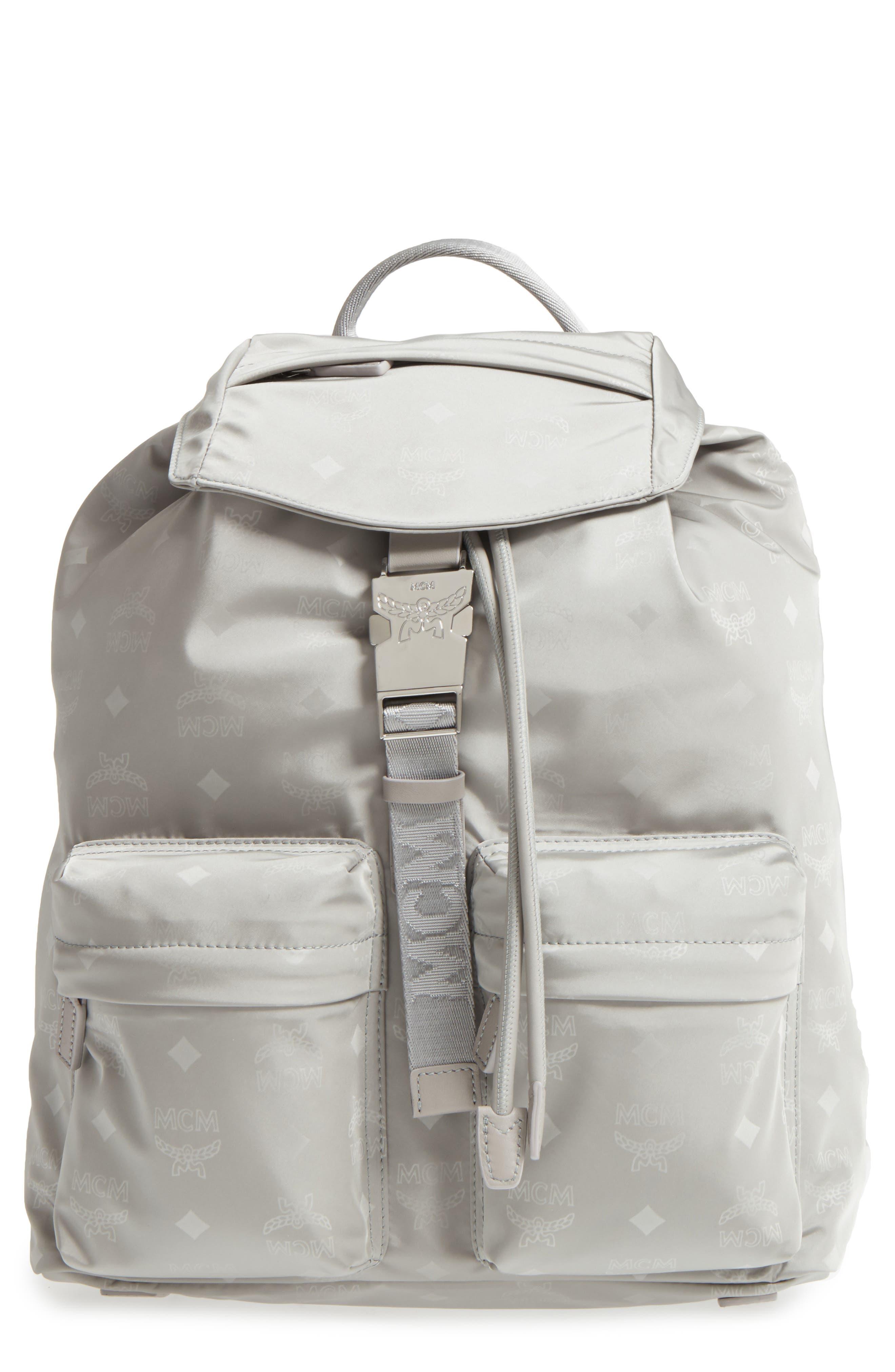 MCM Small Dieter Monogrammed Nylon Backpack