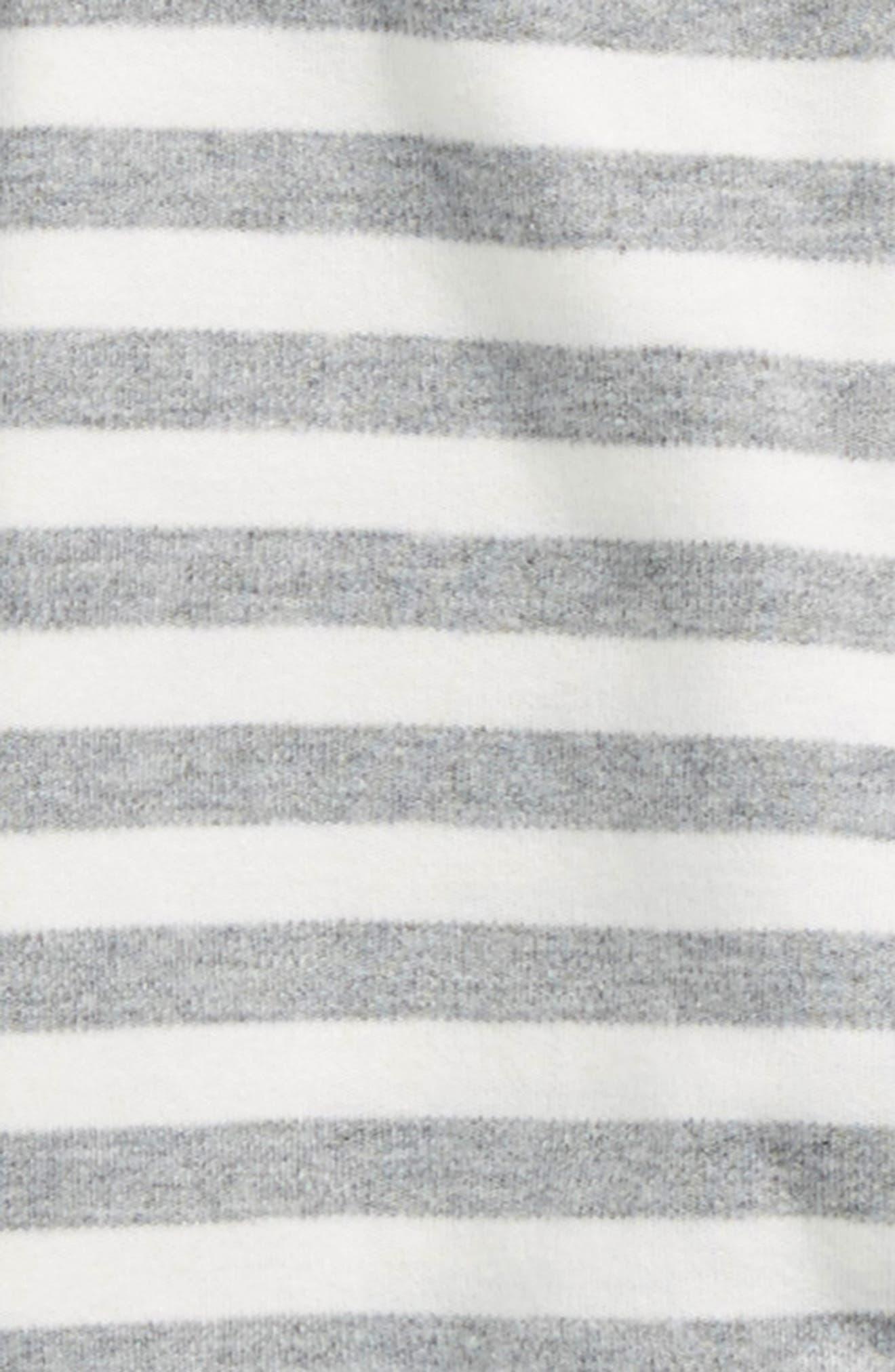 Stripe Organic Cotton Romper,                             Alternate thumbnail 2, color,                             Striped Grey/ Off White