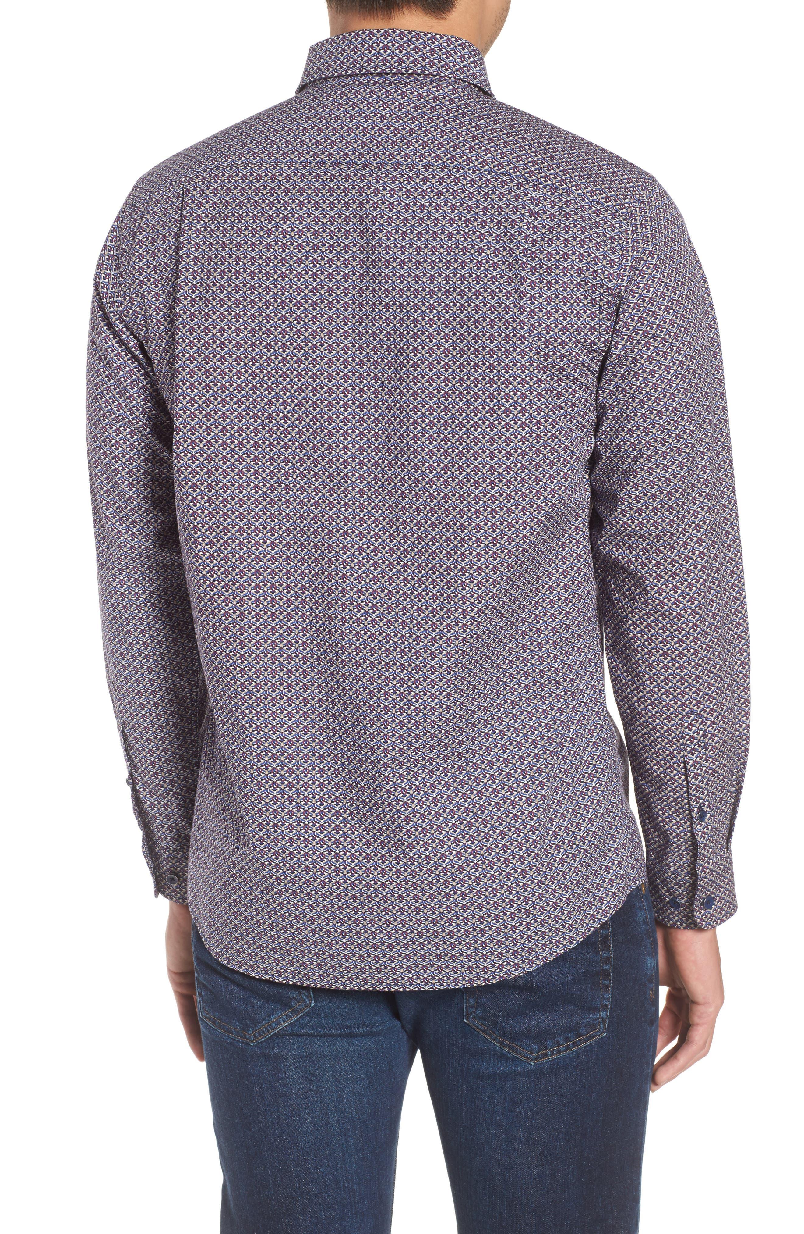 Fenton Park Regular Fit Sport Shirt,                             Alternate thumbnail 2, color,                             Royal