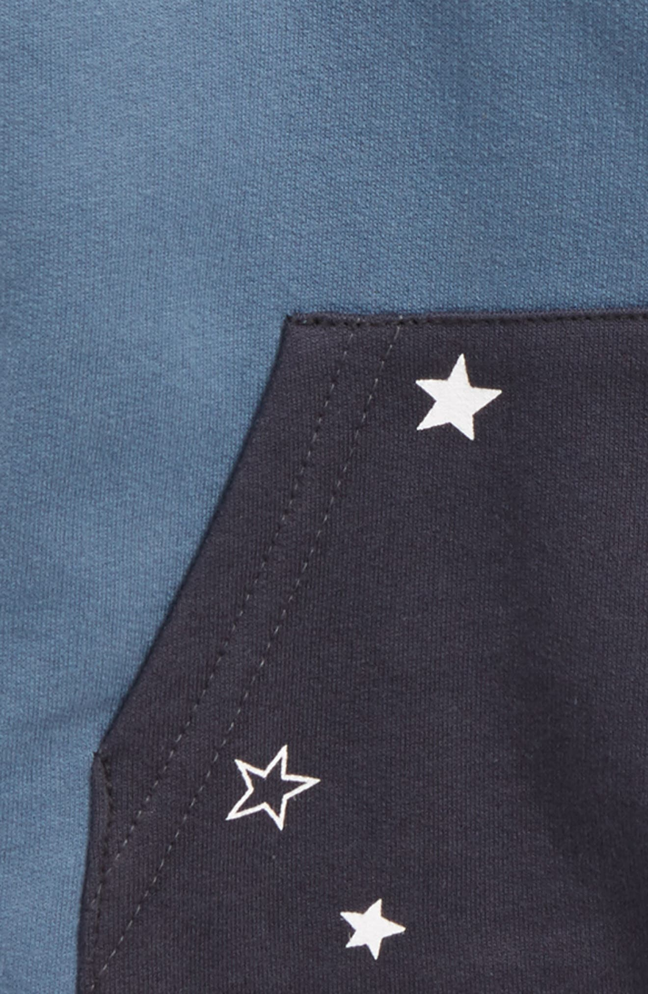 Star Pocket Hoodie,                             Alternate thumbnail 2, color,                             Blue