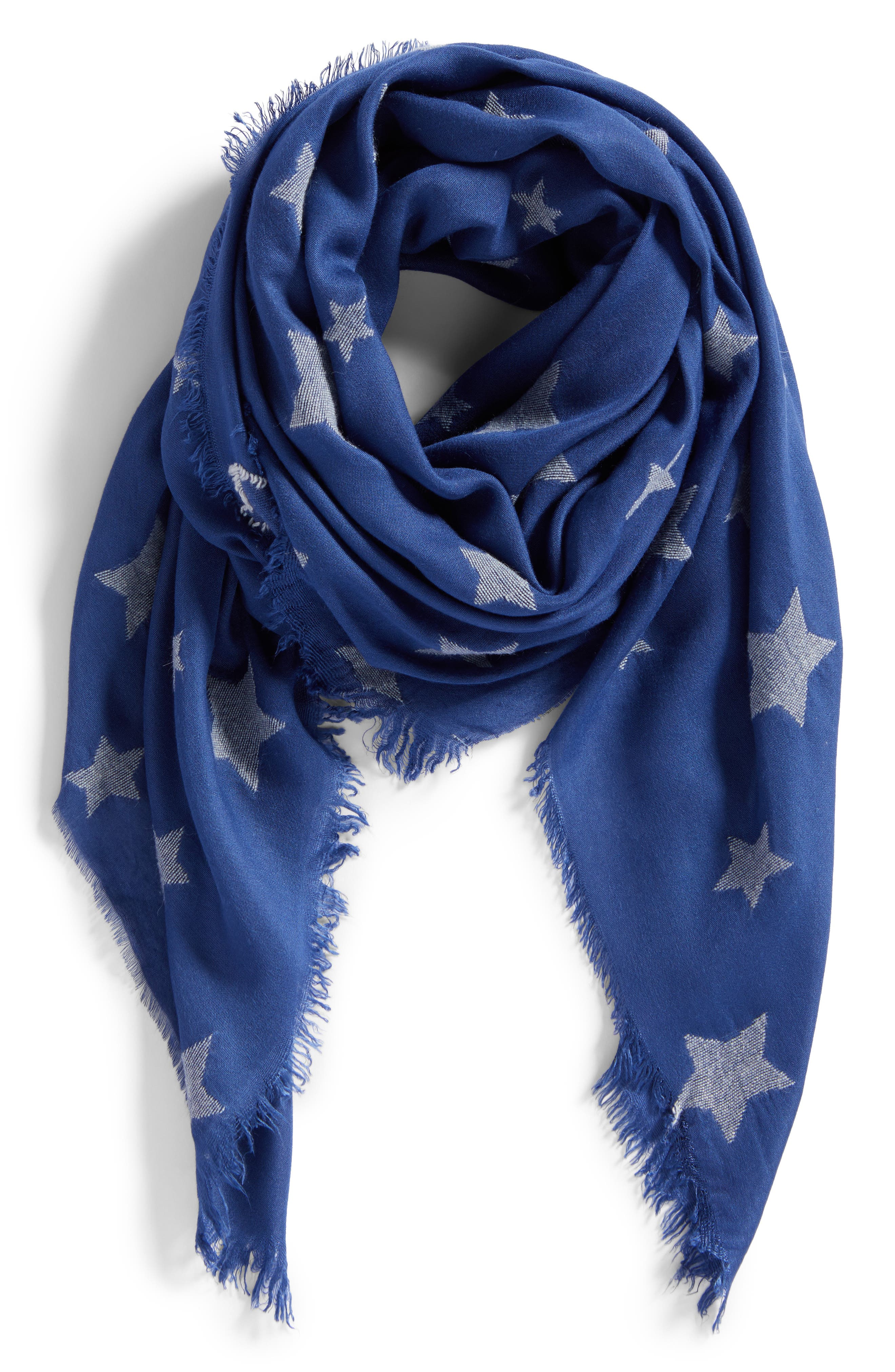 Star Scarf,                             Alternate thumbnail 2, color,                             Blue Multi
