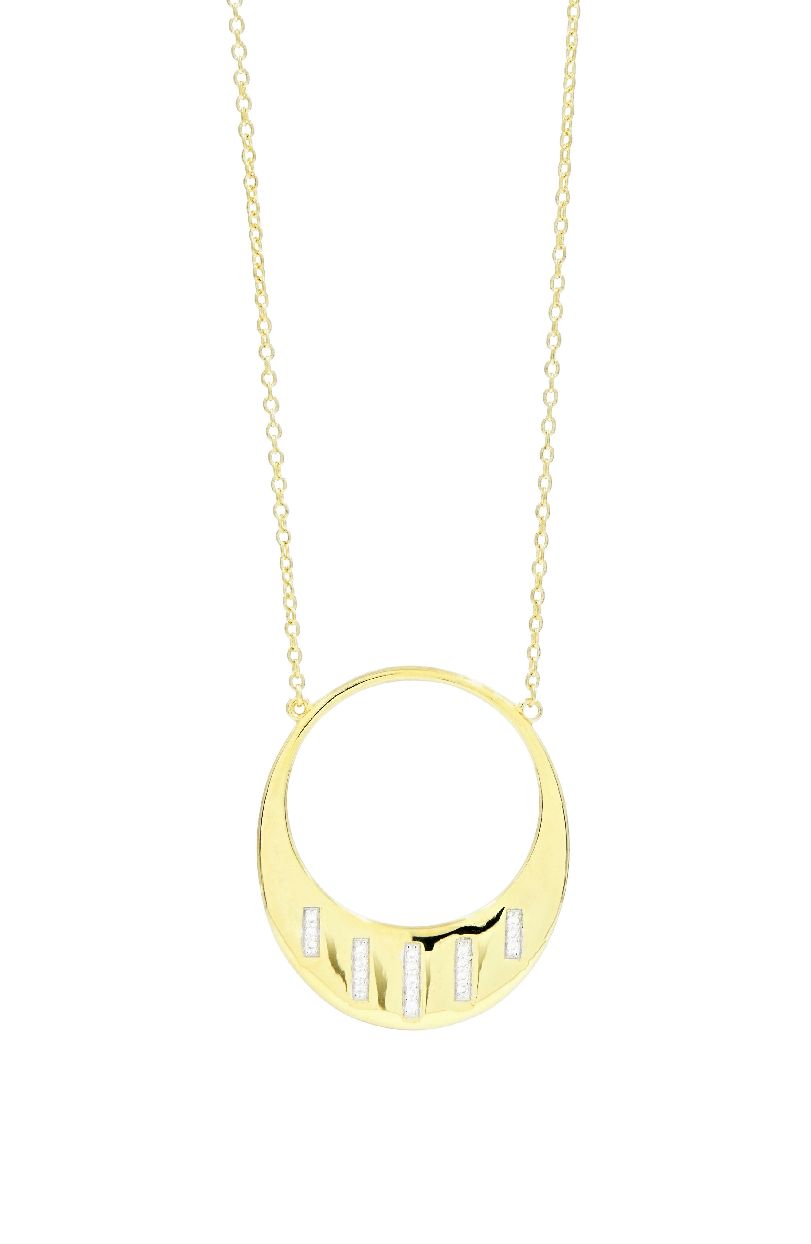 Radiance Open Pendant Necklace,                         Main,                         color, Silver/ Gold