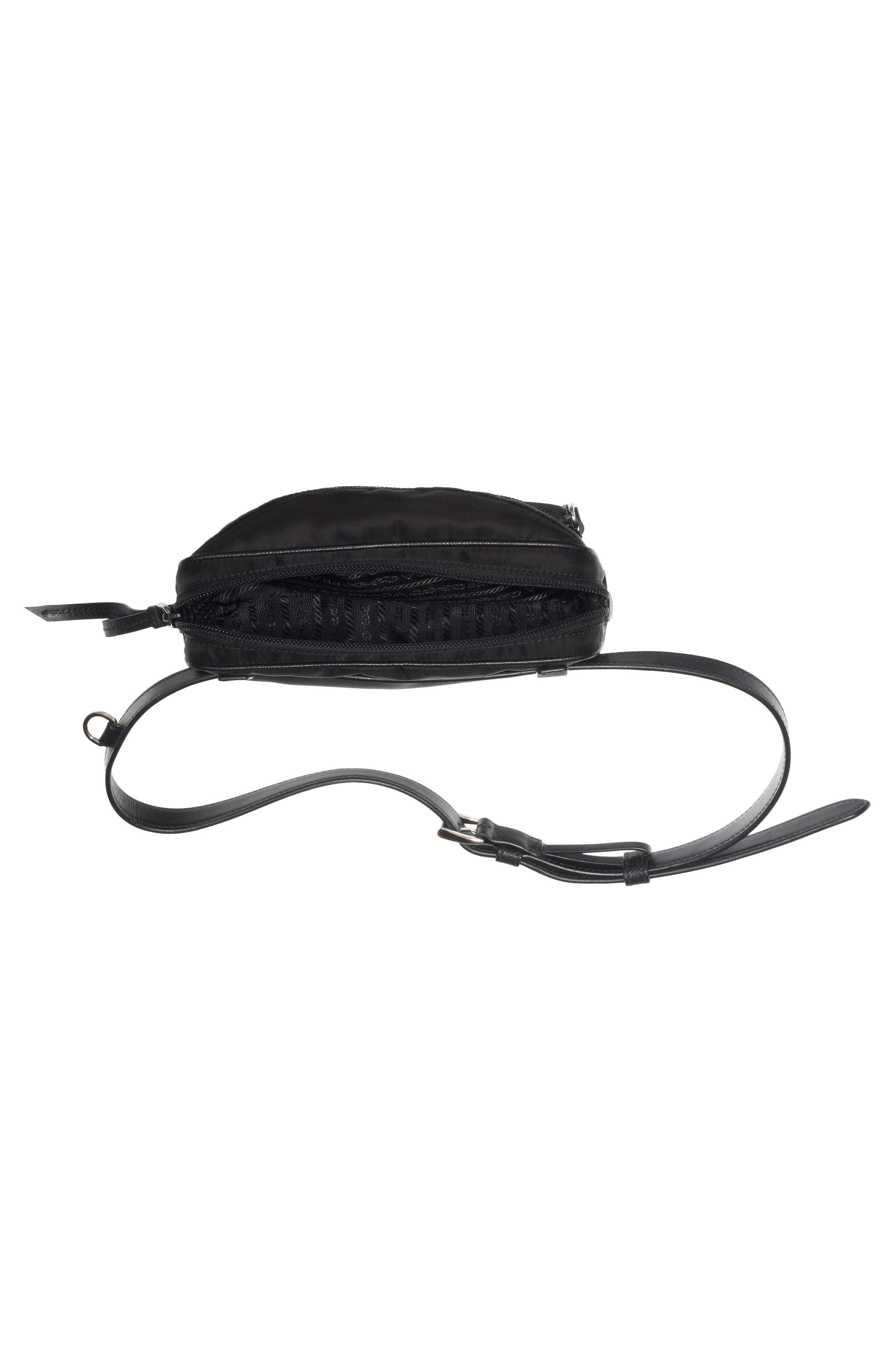Small Nylon Belt Bag,                             Alternate thumbnail 4, color,                             Nero