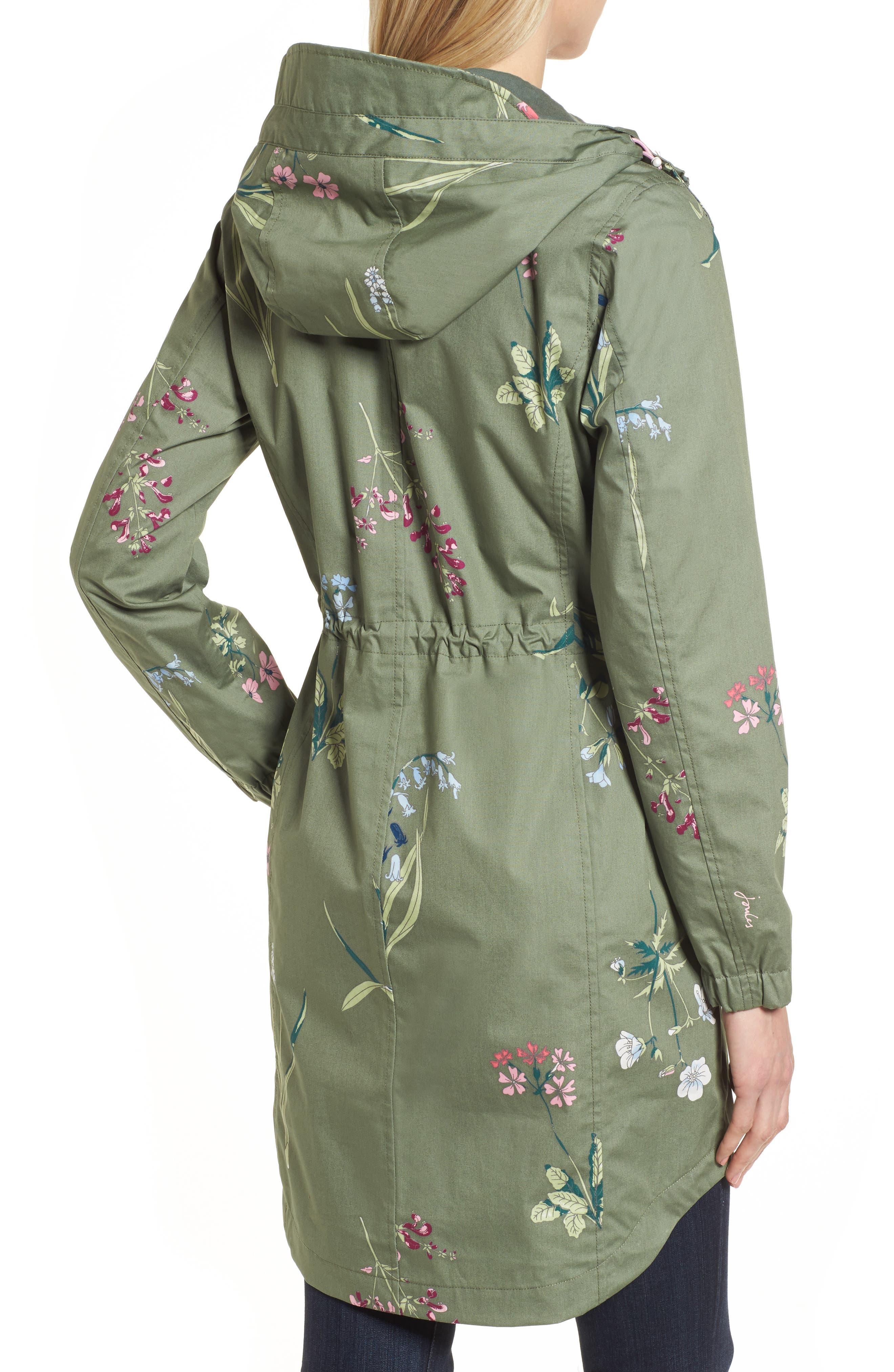Right as Rain - Coastline Waterproof Cotton Jacket,                             Alternate thumbnail 2, color,                             Laurel Botanical