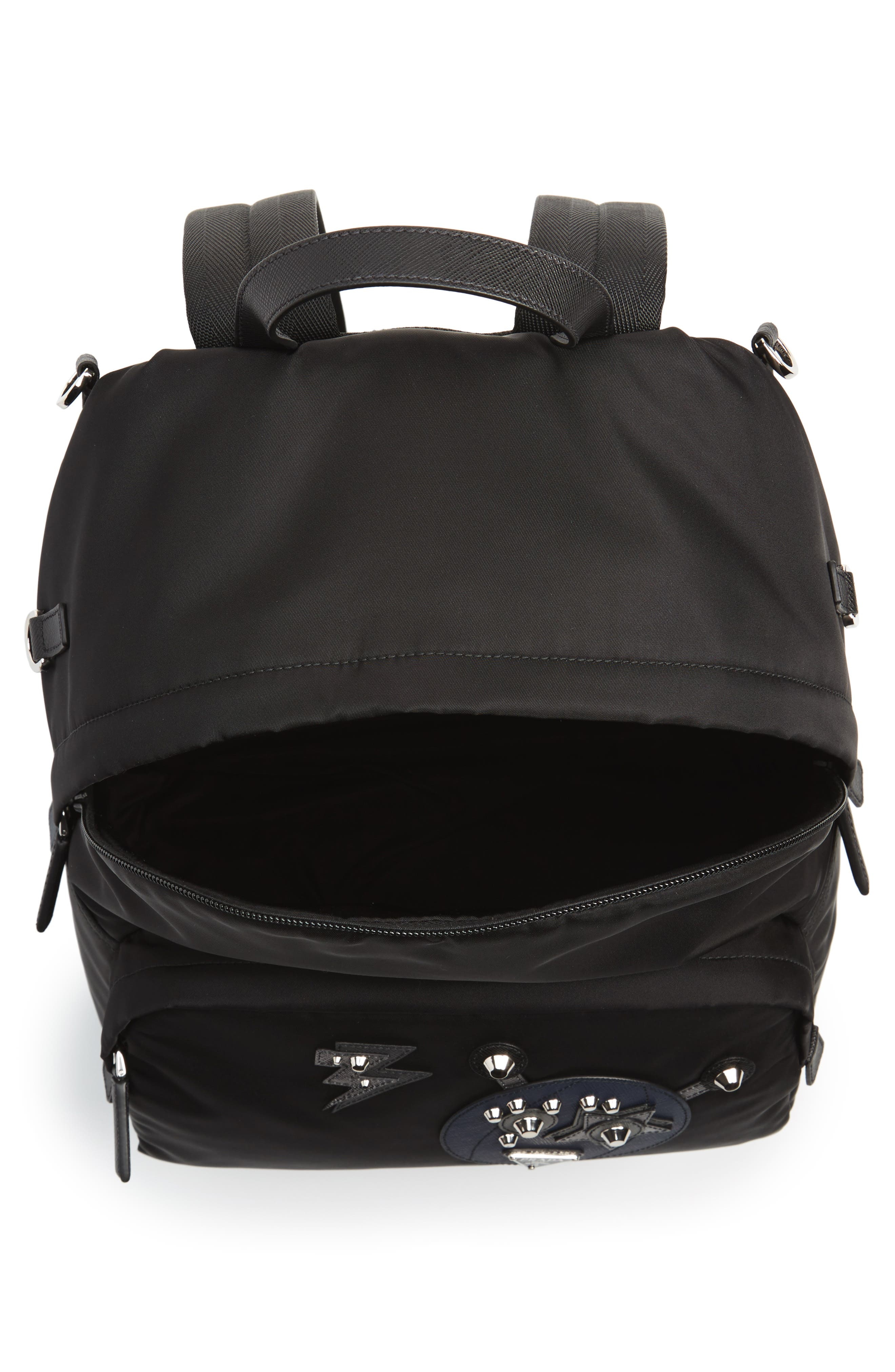 Robot Backpack,                             Alternate thumbnail 5, color,                             F0g52 Nero+Baltic