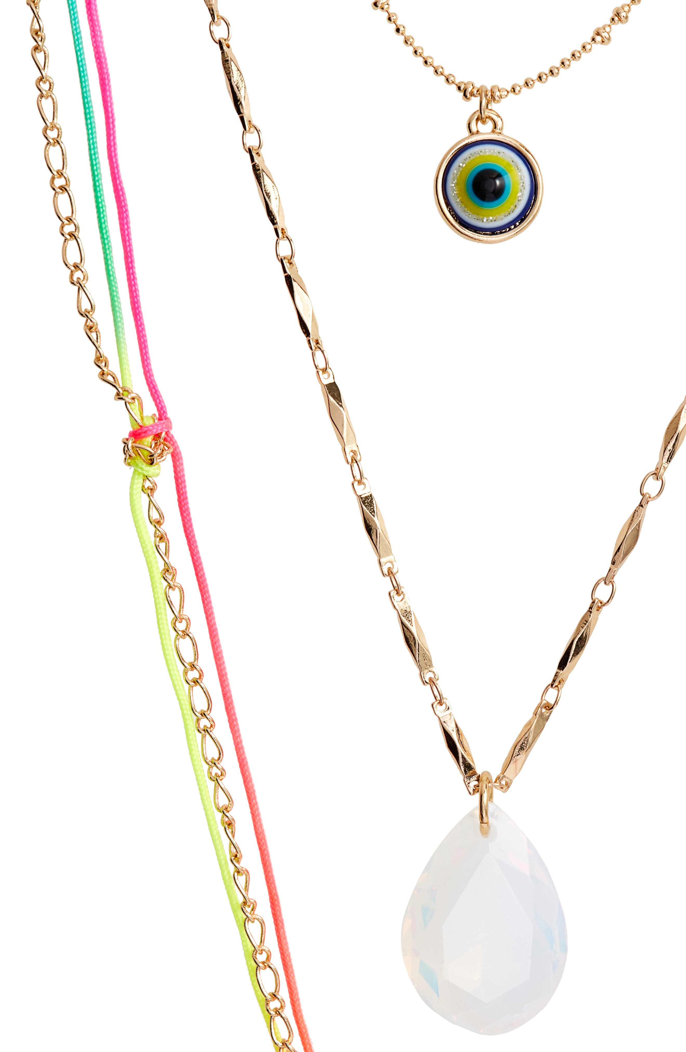 Charm Layered Necklace,                             Alternate thumbnail 2, color,                             Multi