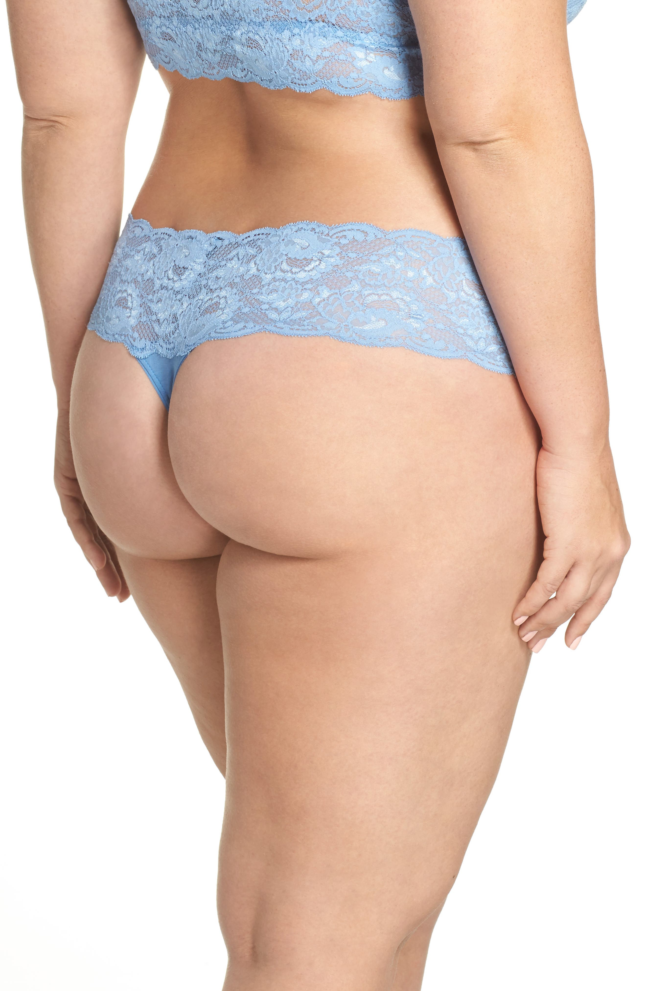 'Never Say Never Lovely' Thong,                             Alternate thumbnail 2, color,                             Jewel Blue