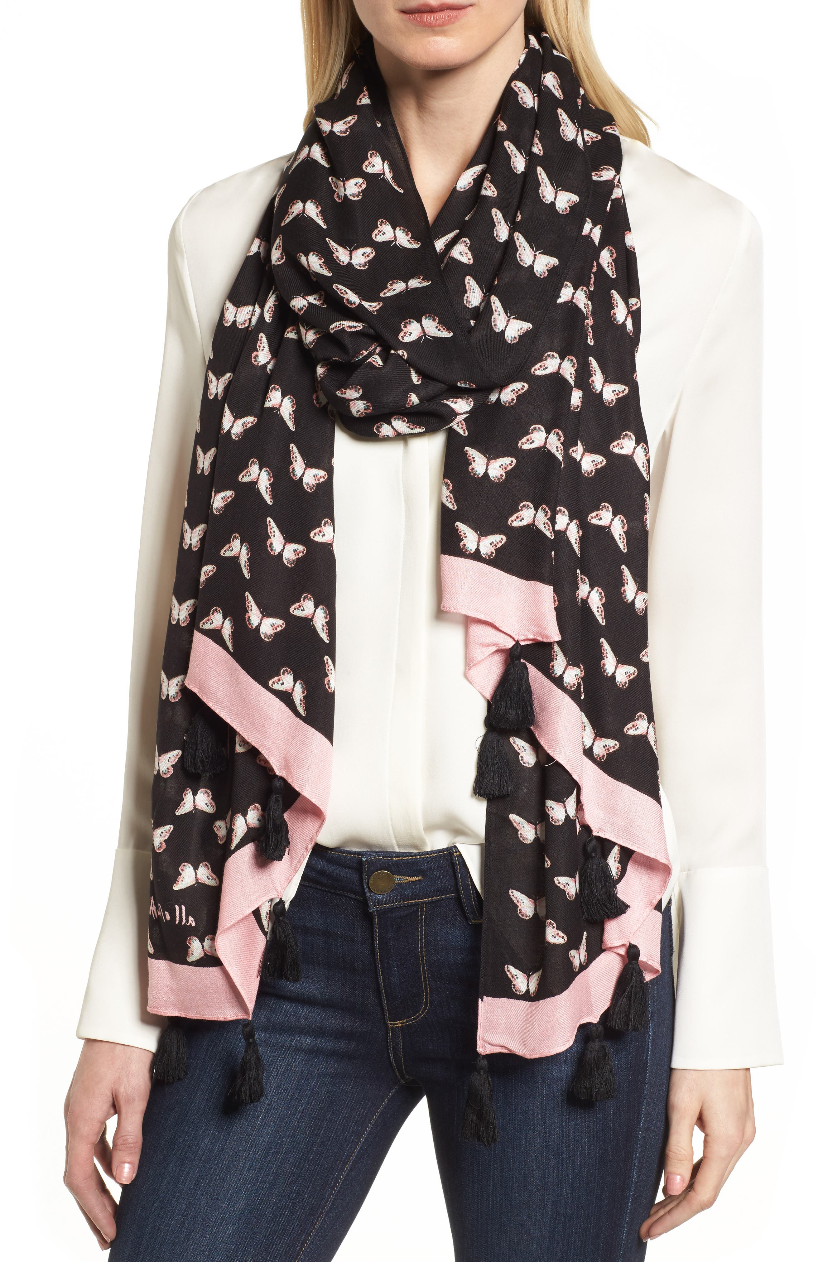 kate spade new york butterfly scarf