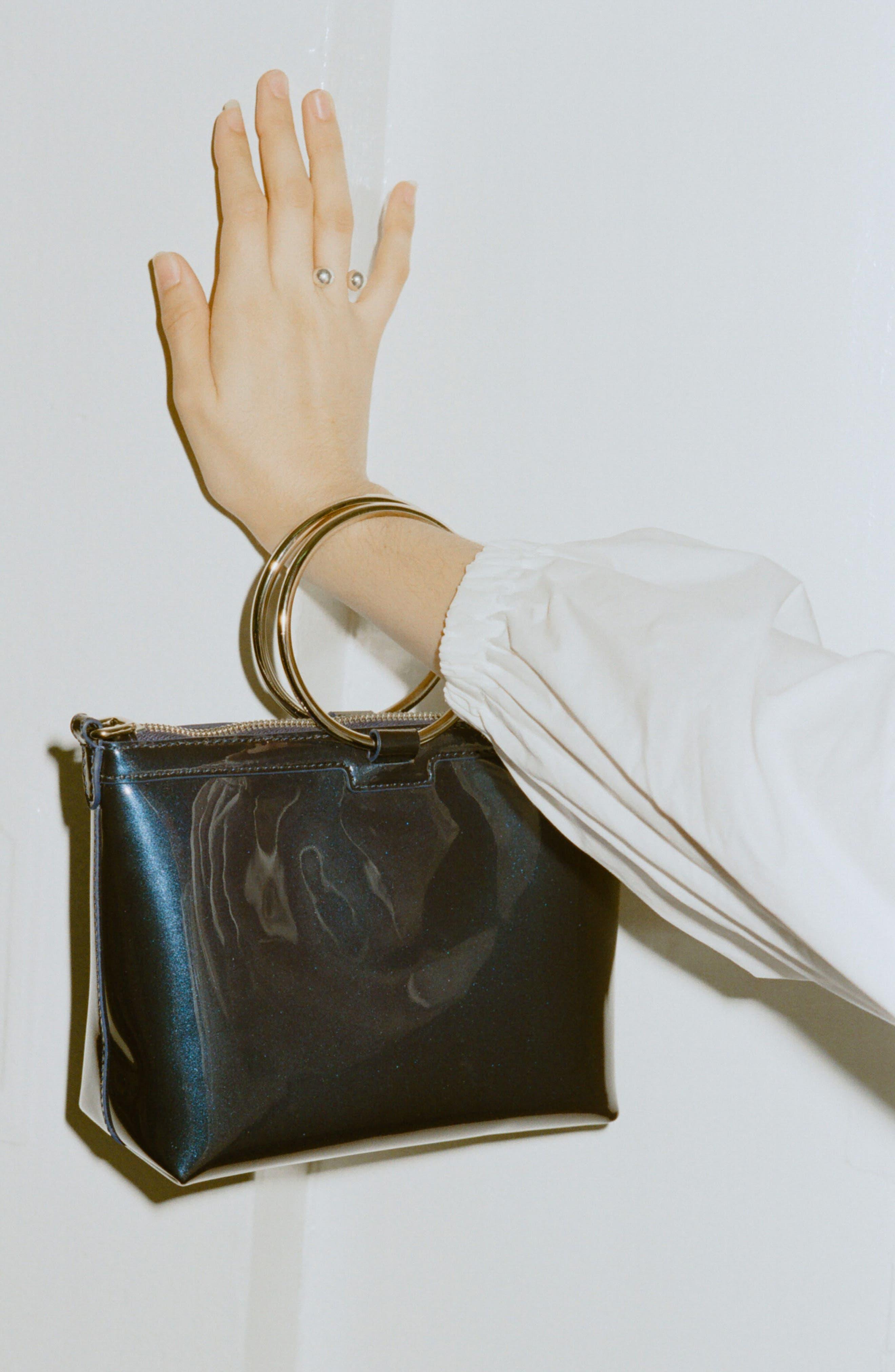 Iridescent Ring Crossbody Bag,                             Alternate thumbnail 9, color,                             Galaxy Navy