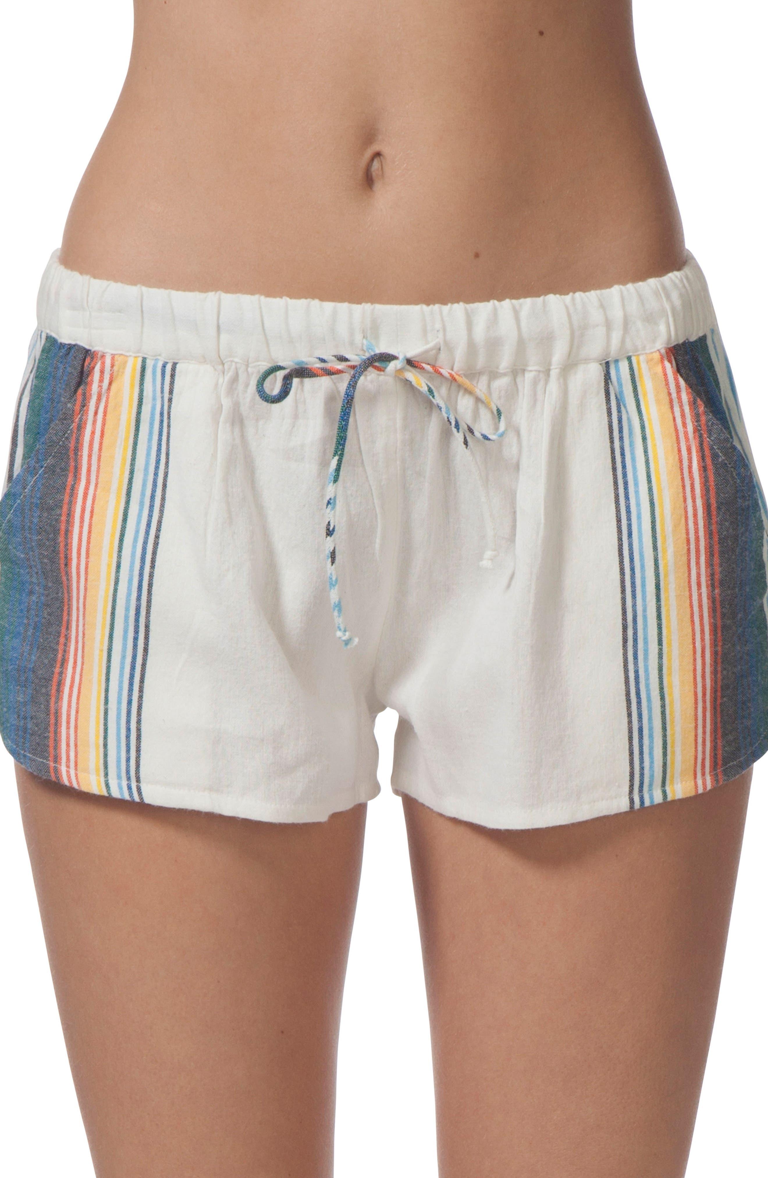 Beach Bazaar Cotton Shorts,                             Main thumbnail 1, color,                             Vanilla