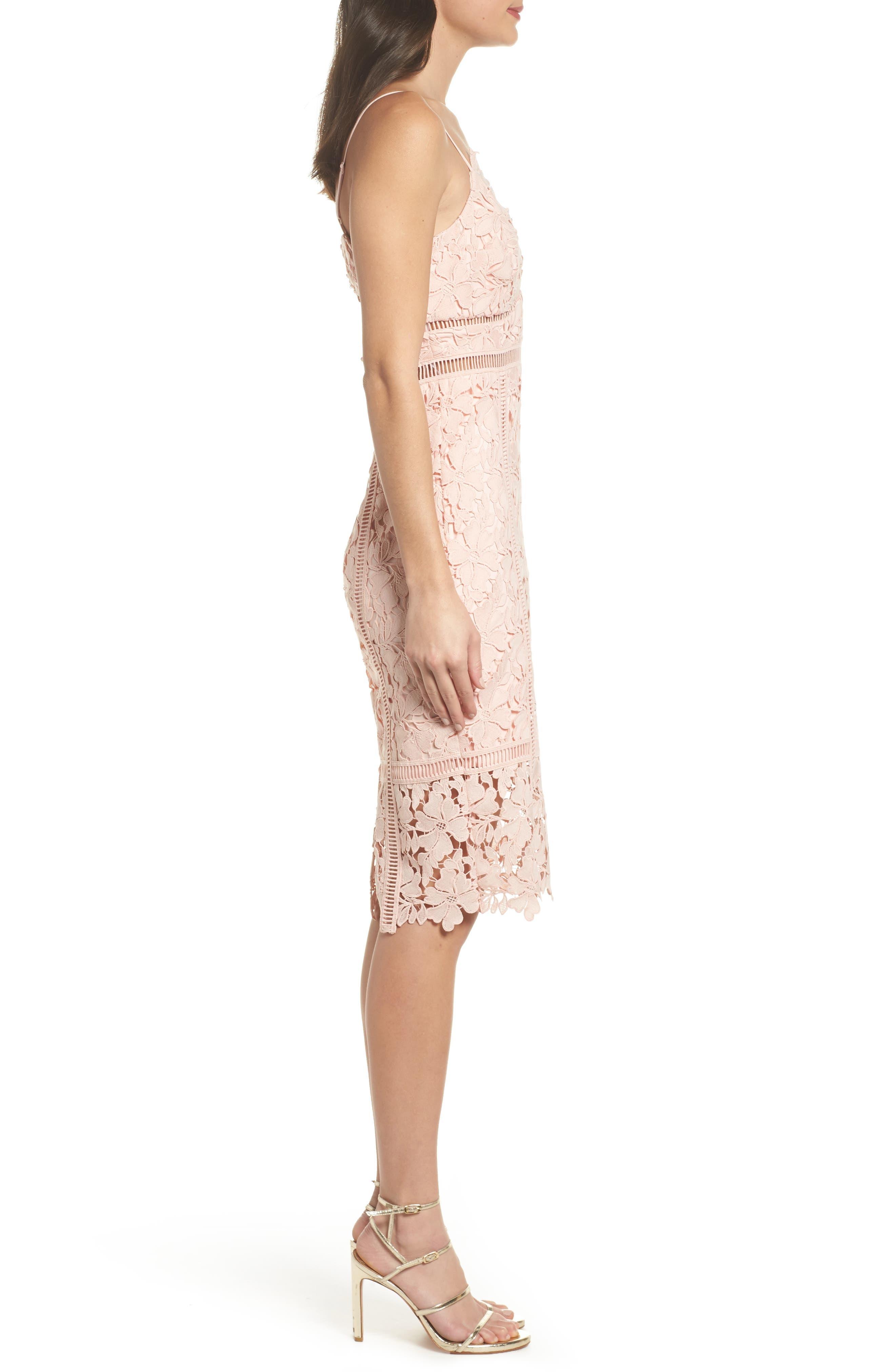 Botanica Lace Dress,                             Alternate thumbnail 3, color,                             Melon