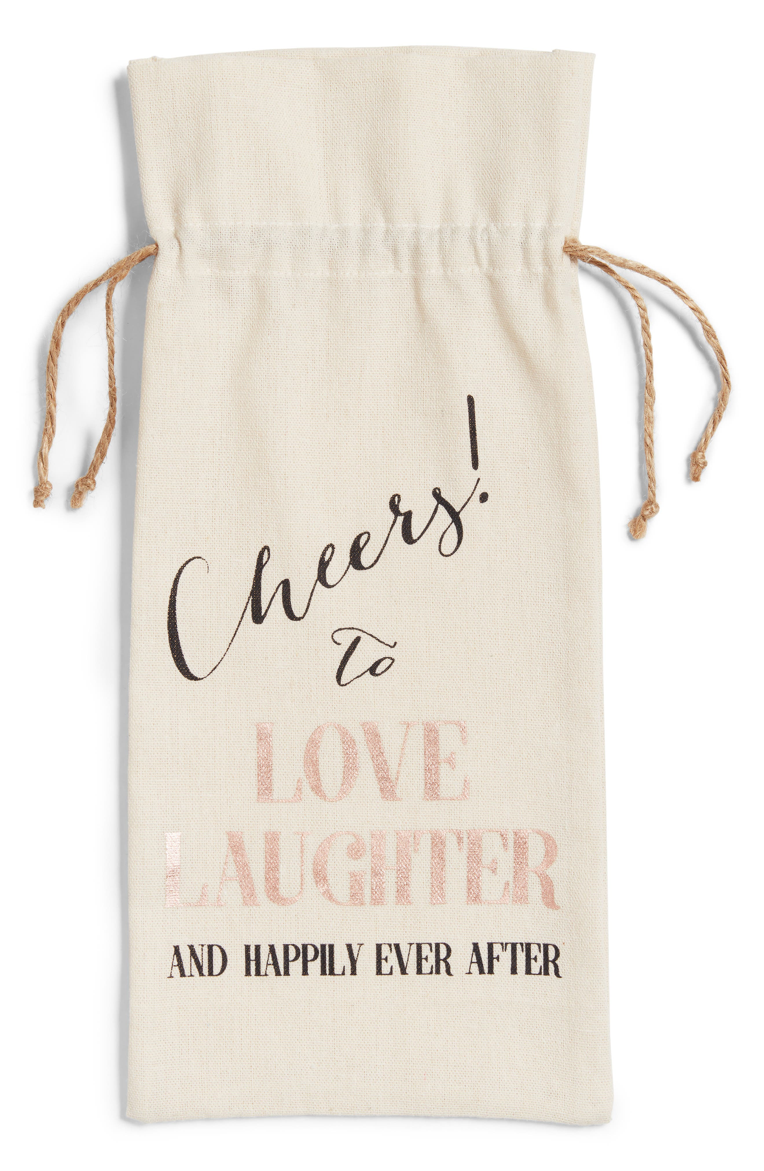 Cheers Wine Tote,                             Alternate thumbnail 2, color,                             Ivory