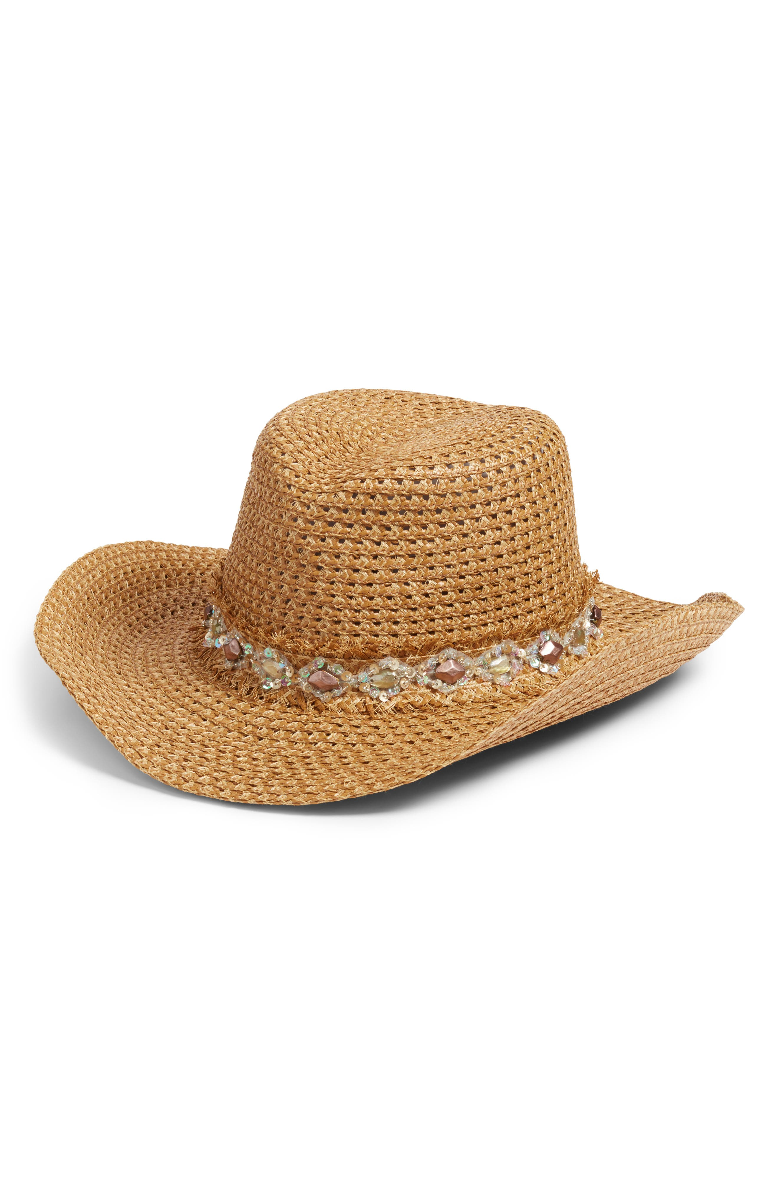 Ariela Squishee<sup>®</sup> Western Hat,                             Main thumbnail 1, color,                             Natural Mix