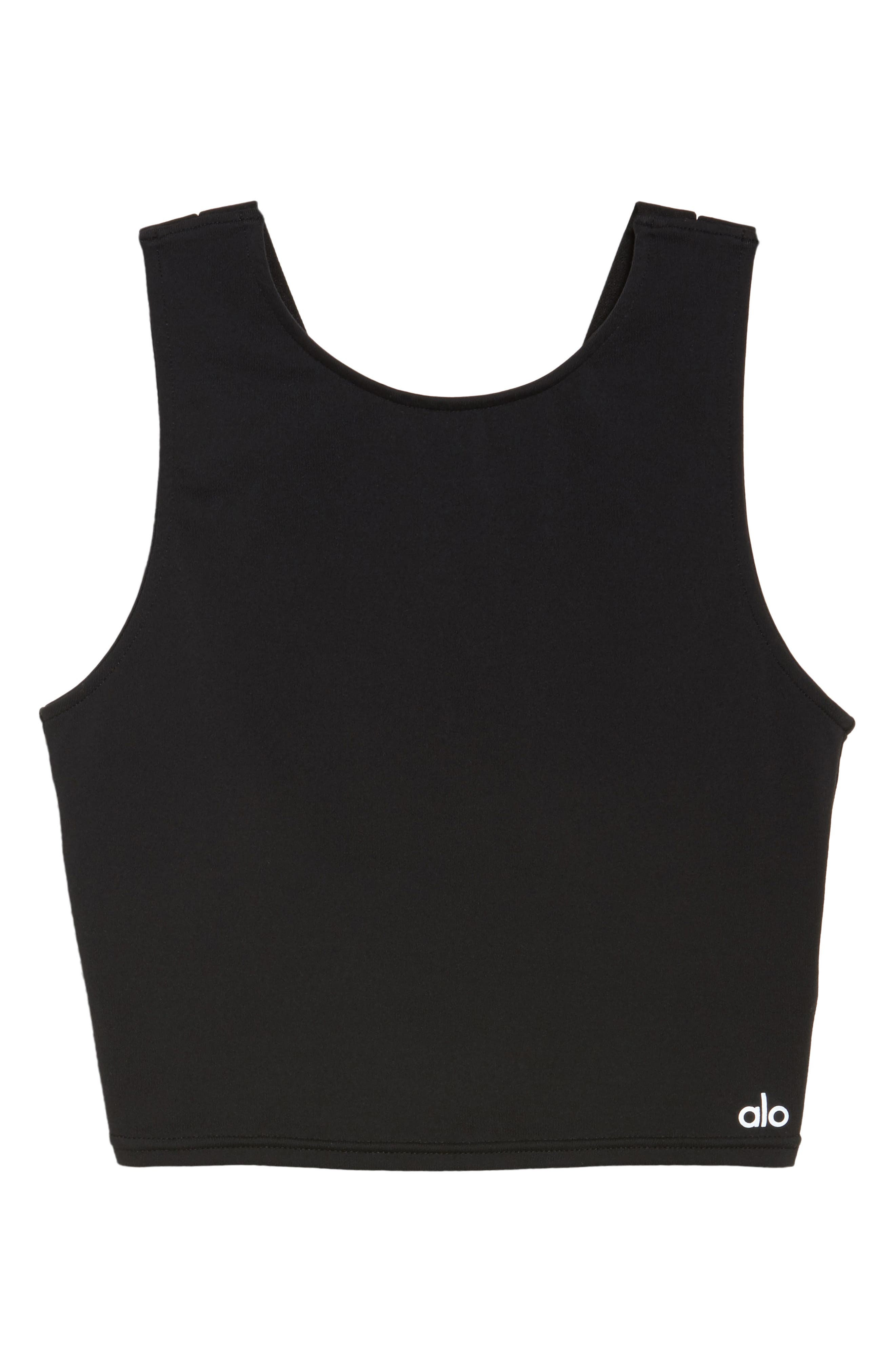 Troop Crop Tank,                             Alternate thumbnail 7, color,                             Black