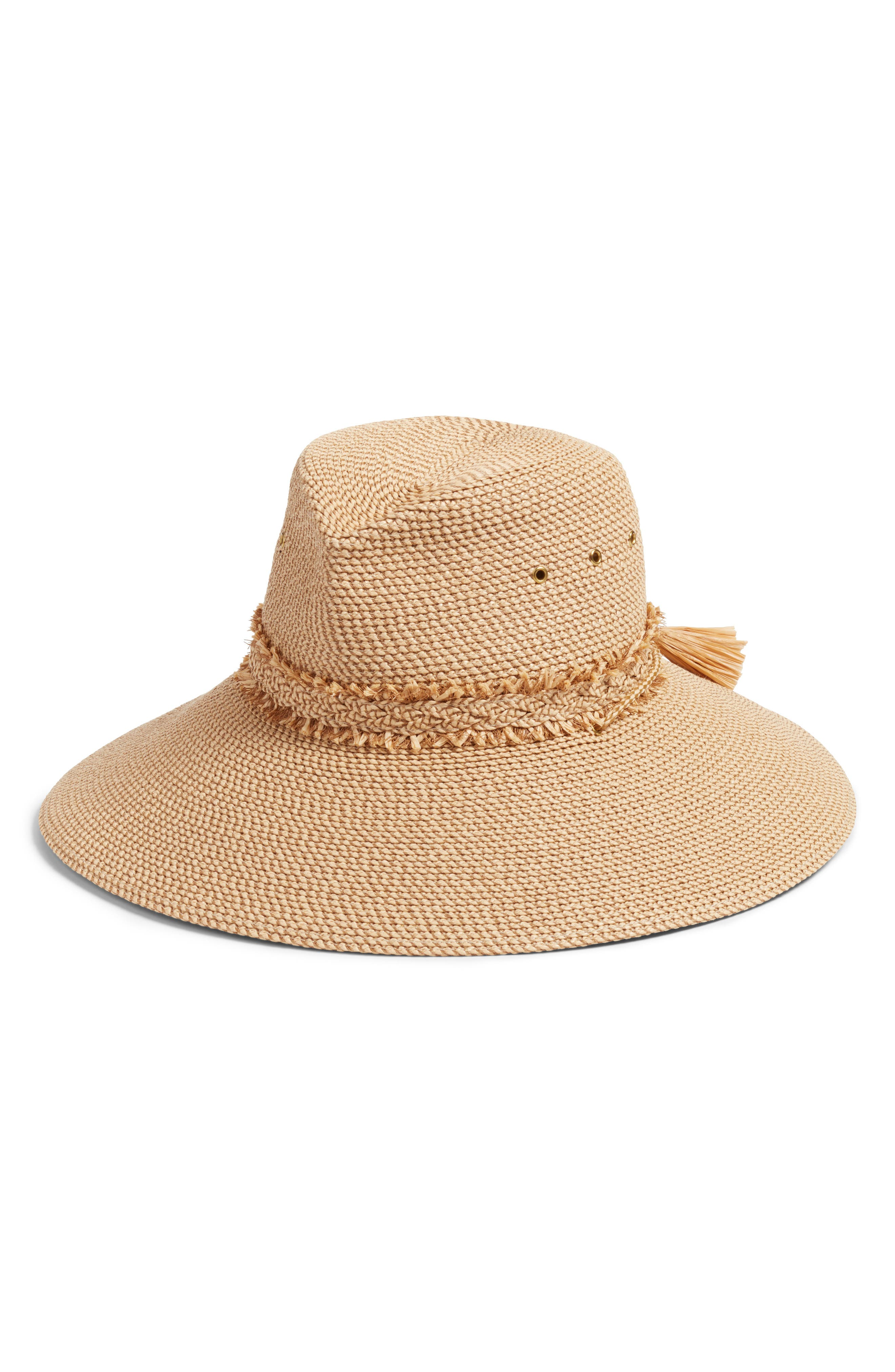 Voyager Squishee<sup>®</sup> Sun Hat,                             Main thumbnail 1, color,                             Peanut