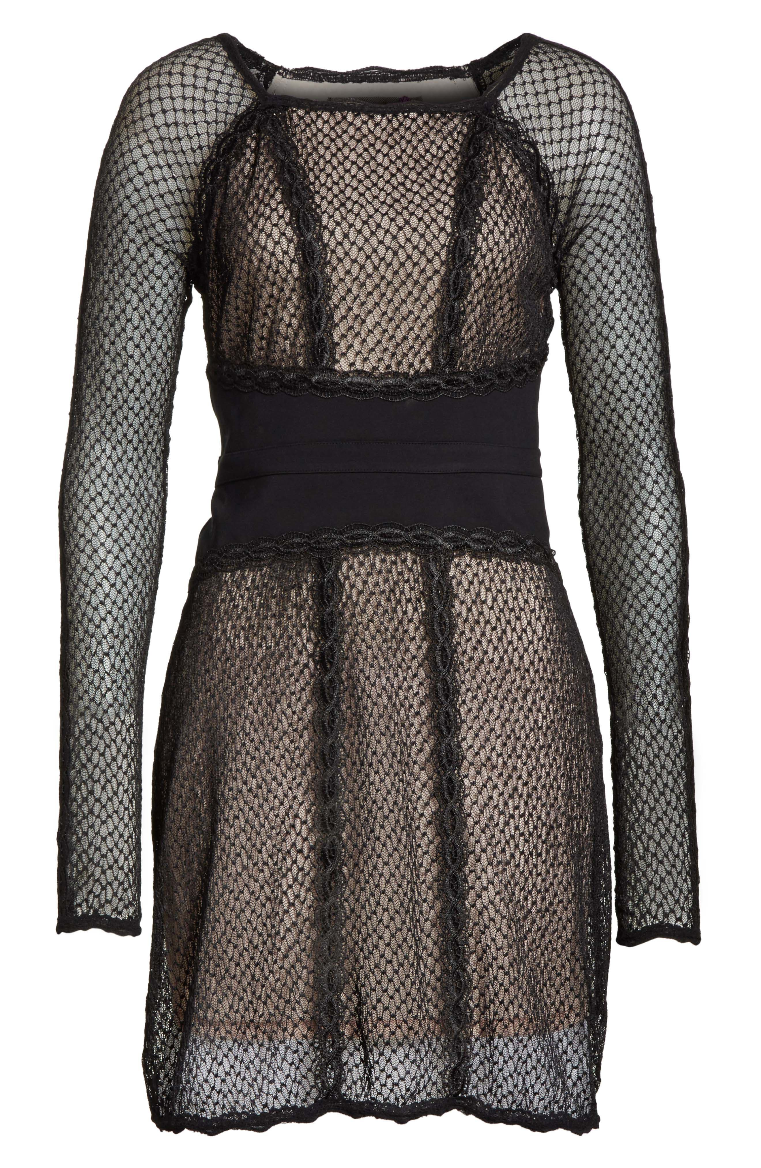 Alternate Image 5  - Free People Lace & Mesh Body-Con Dress