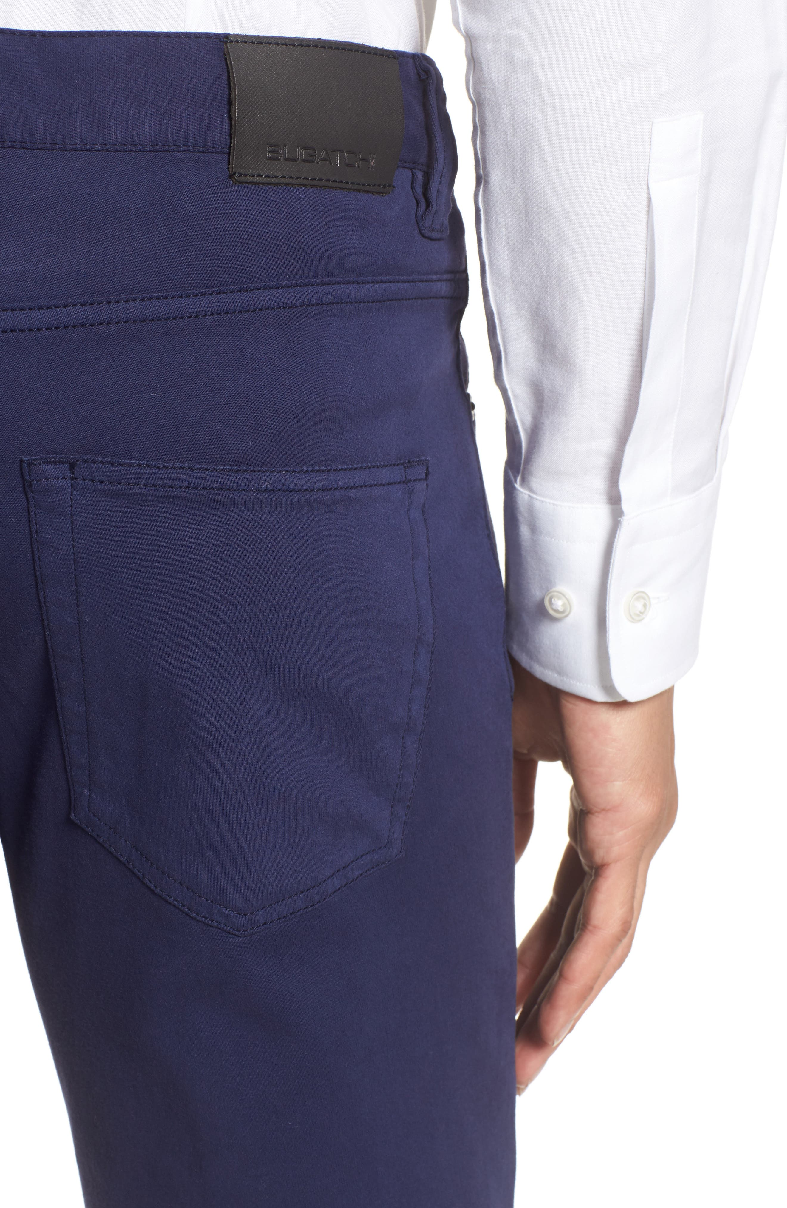 Five-Pocket Straight Leg Pants,                             Alternate thumbnail 4, color,                             Midnight
