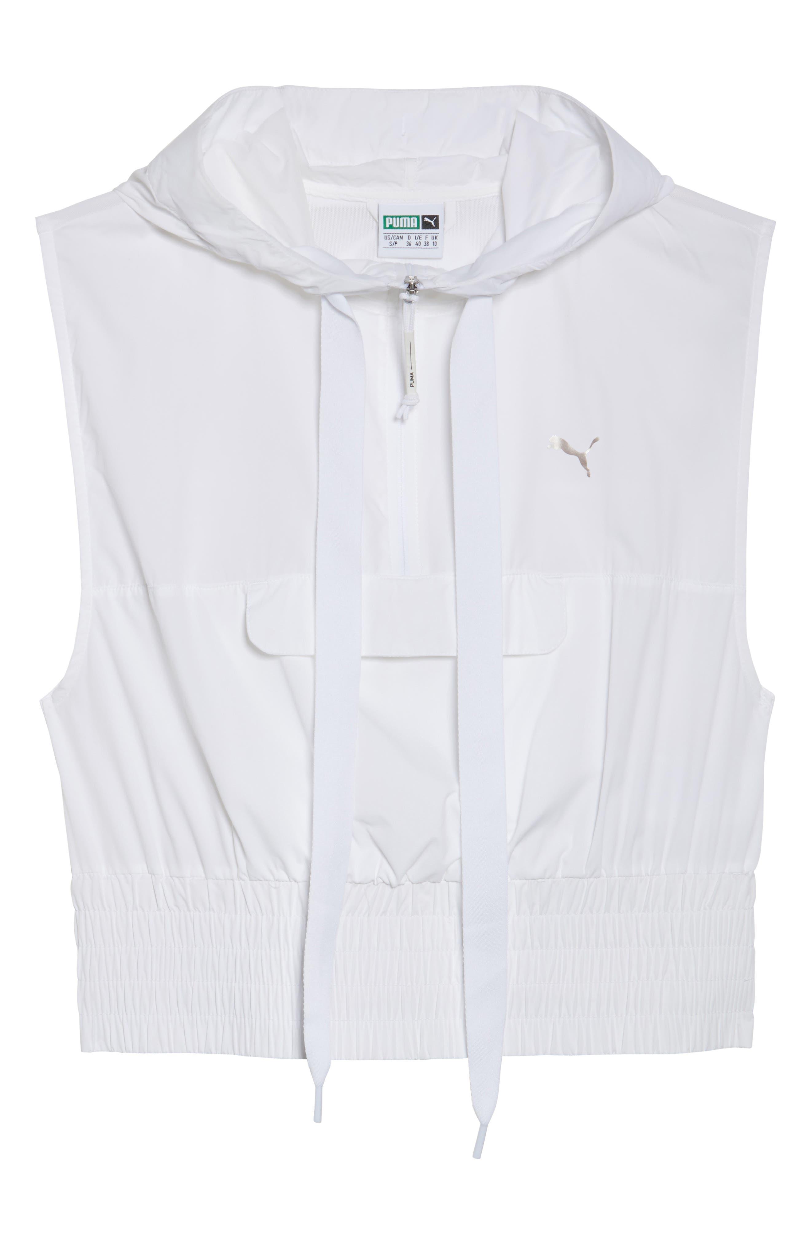 En Pointe Half Zip Pullover,                             Alternate thumbnail 7, color,                             Puma White