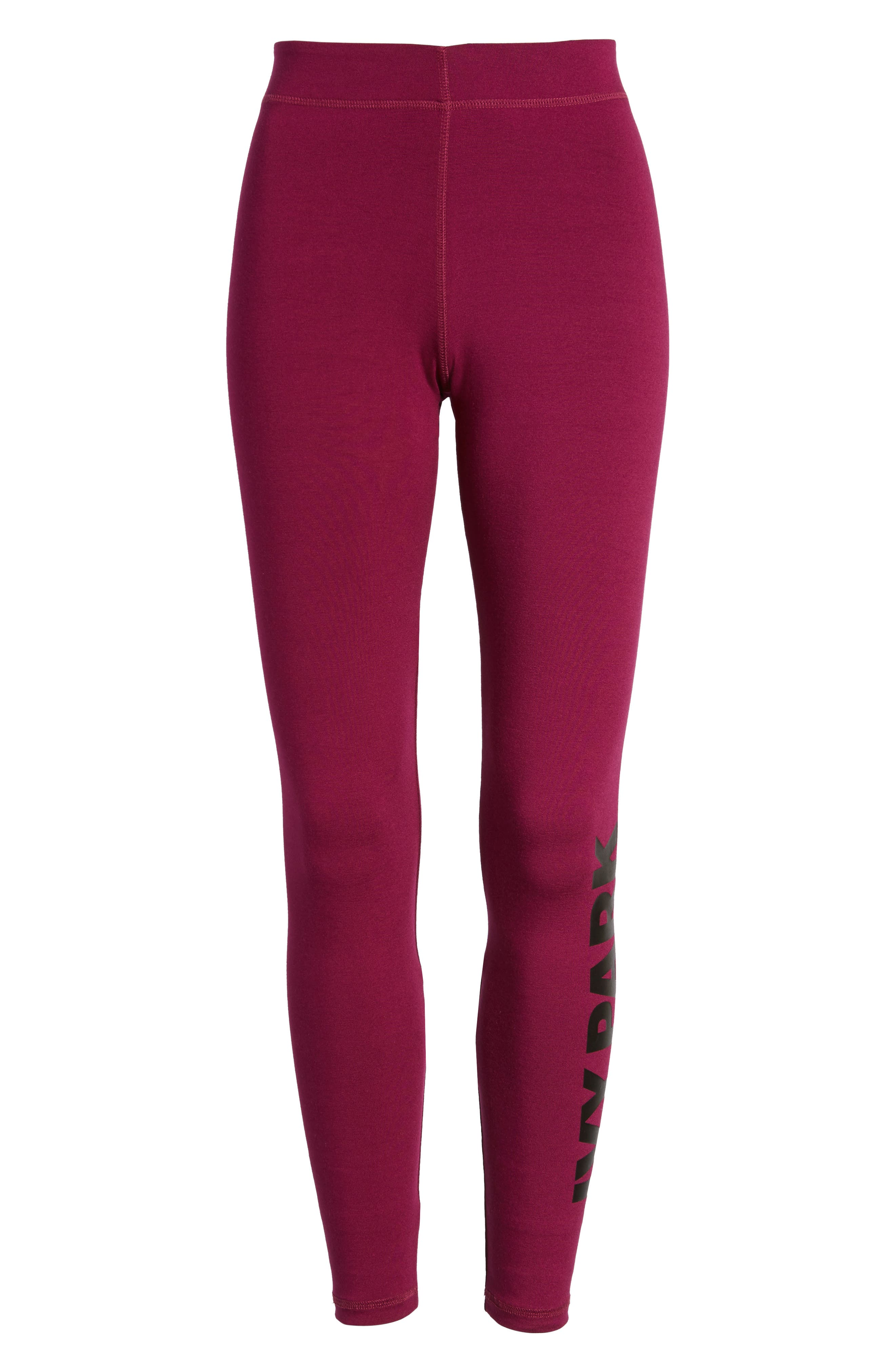 Logo Ankle Leggings,                             Alternate thumbnail 7, color,                             Purple Potion