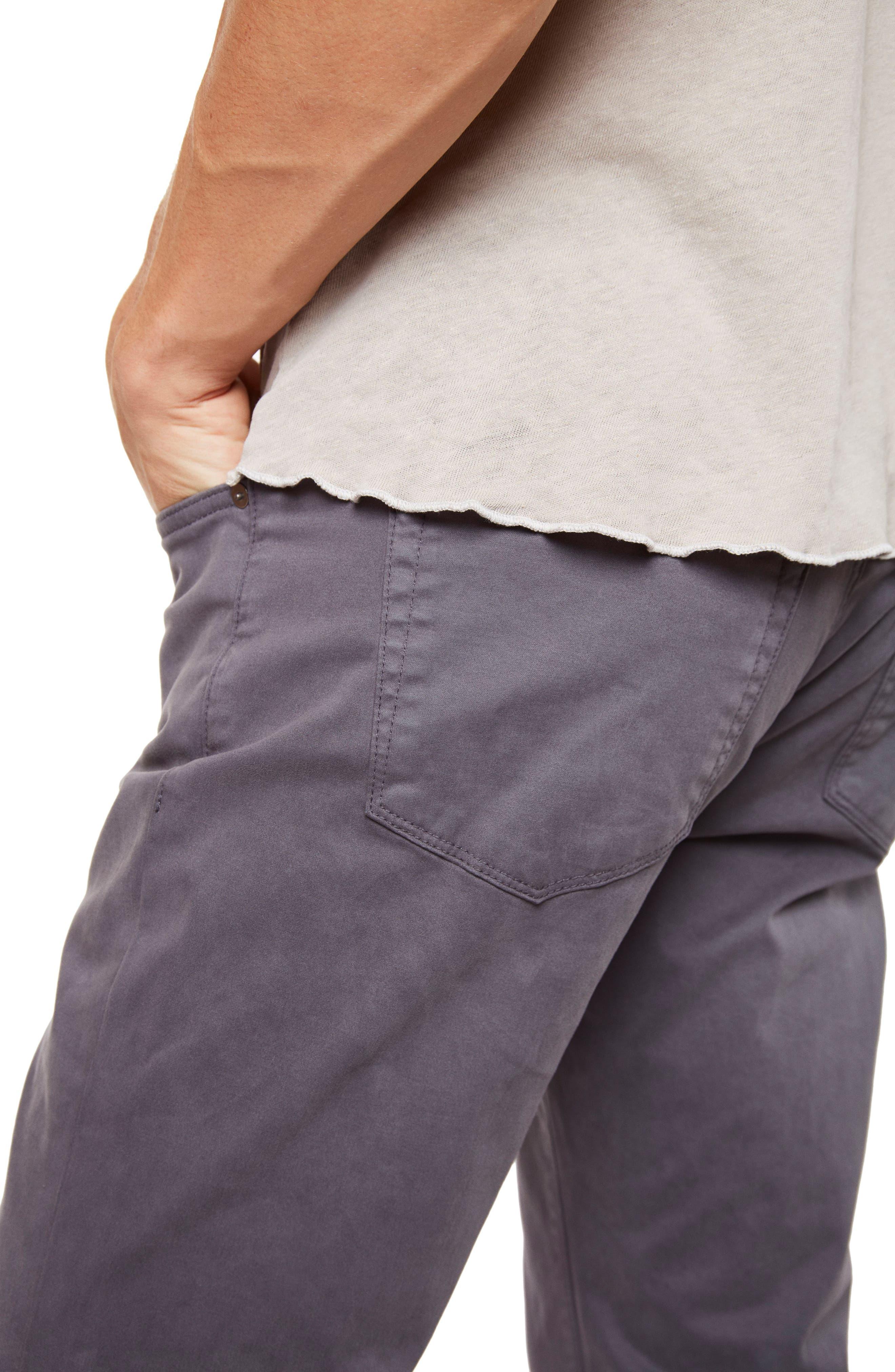 'Kane' Slim Fit Cotton Twill Pants,                             Alternate thumbnail 4, color,                             Graben