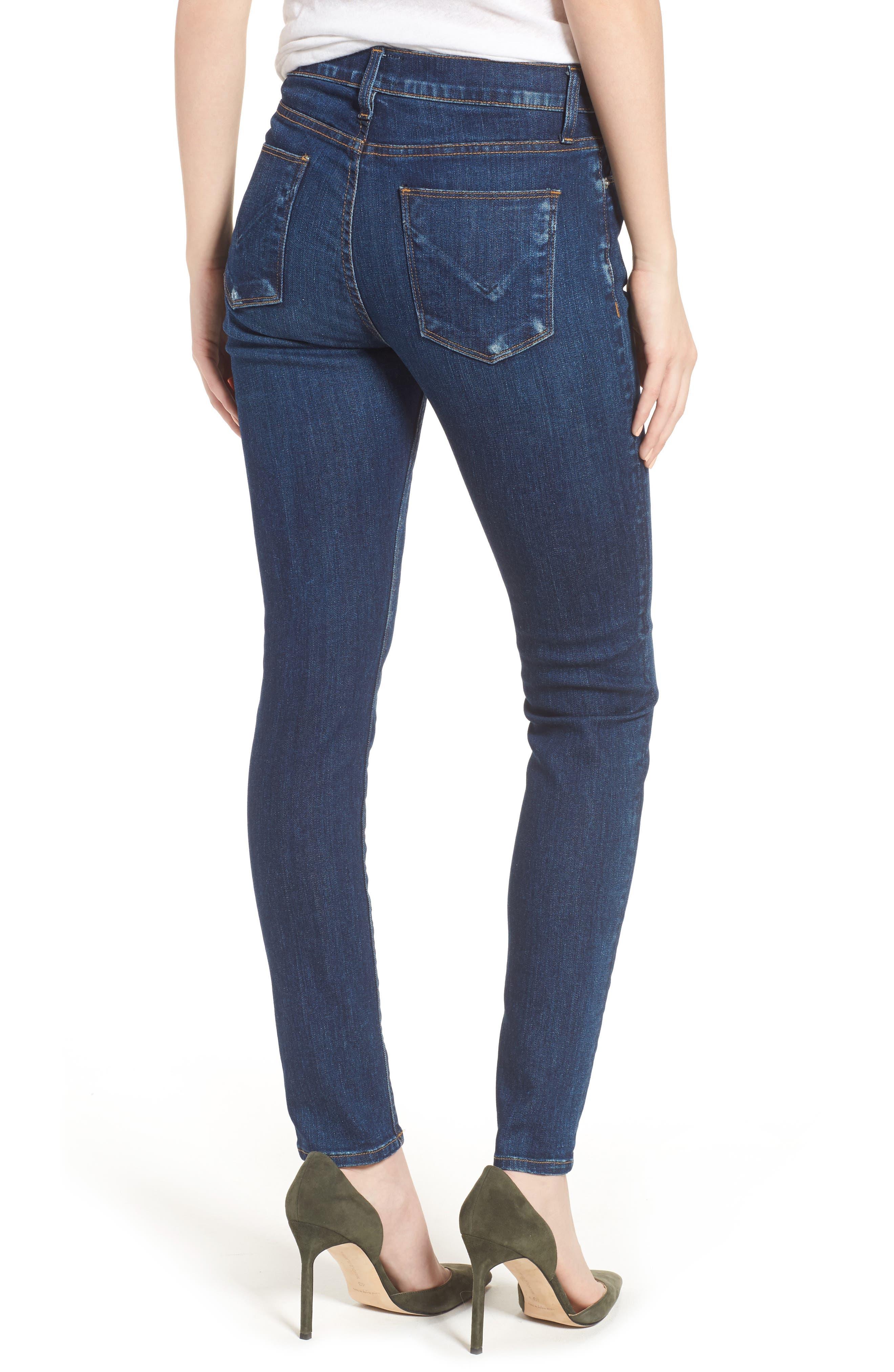 Alternate Image 2  - Hudson Jeans Barbara Pintuck Super Skinny Jeans (Electra)